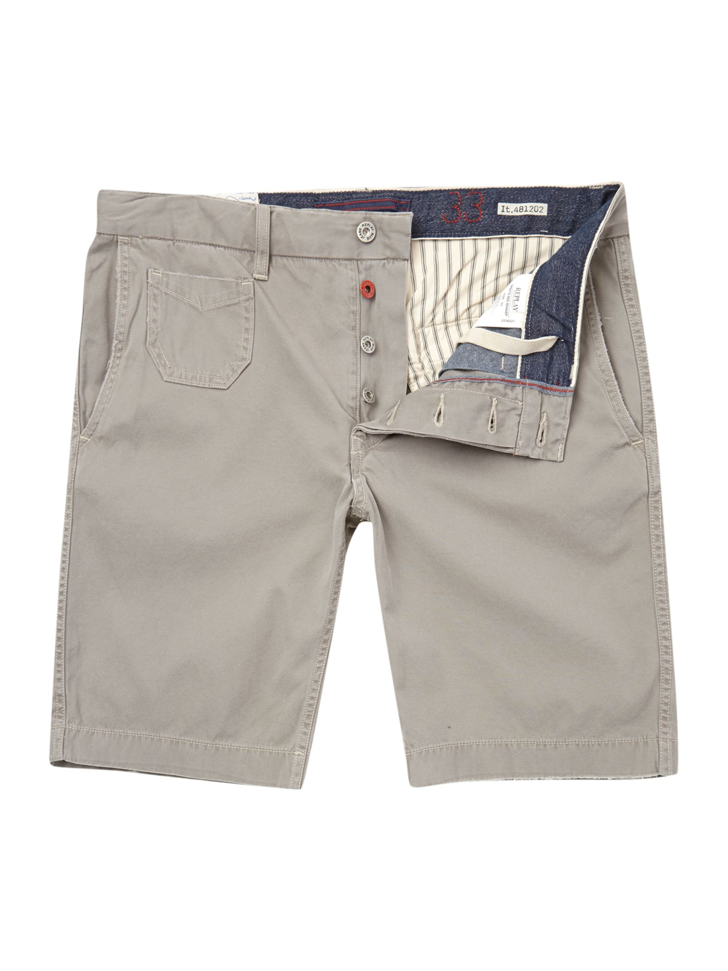 Gabardine regular fit cargo short