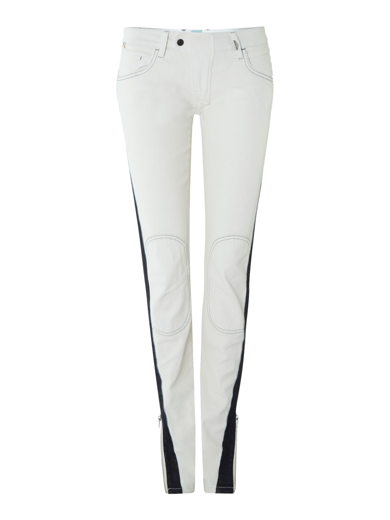 Slim biker jeans, regular leg