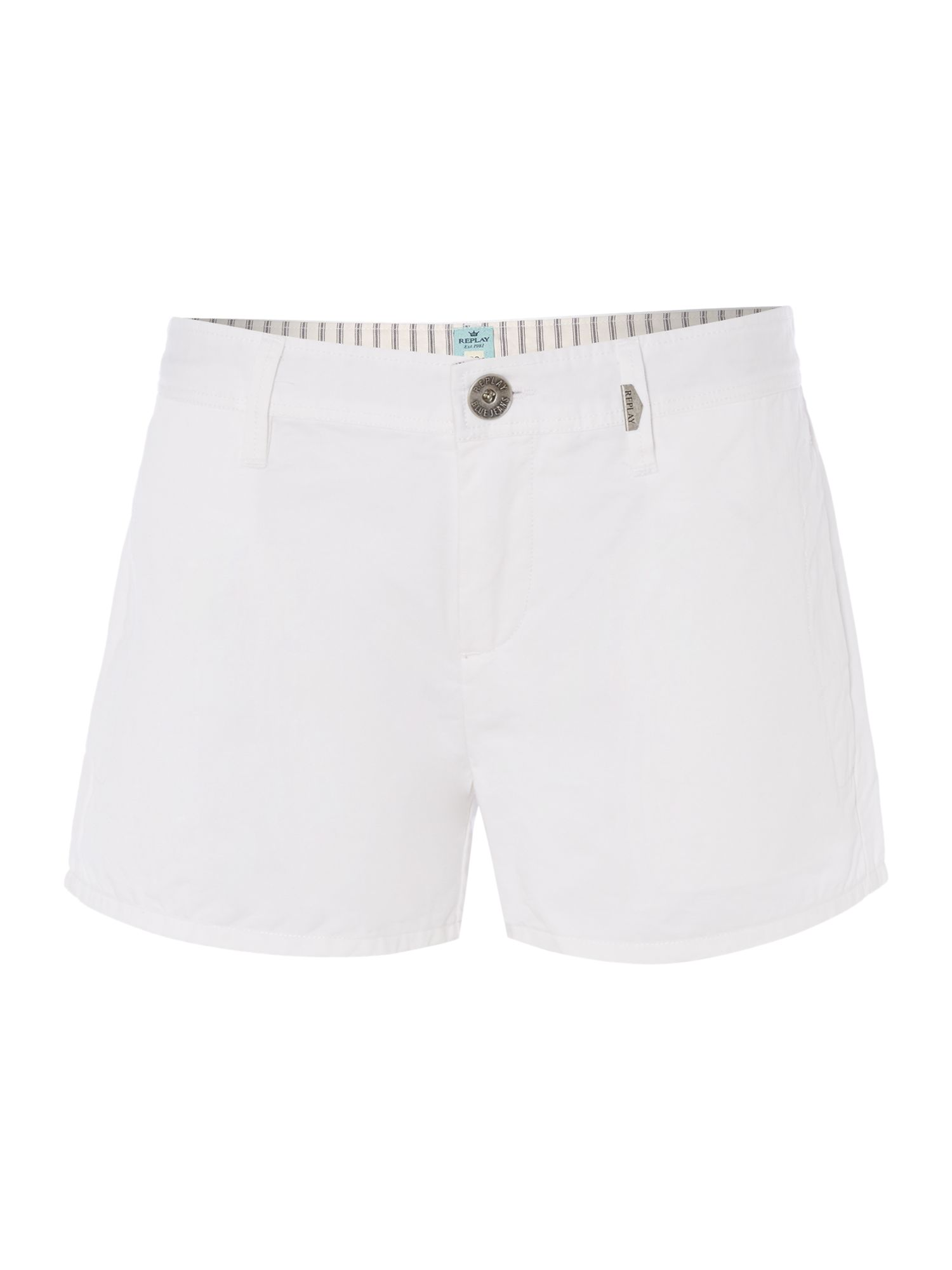Chino short in cotton
