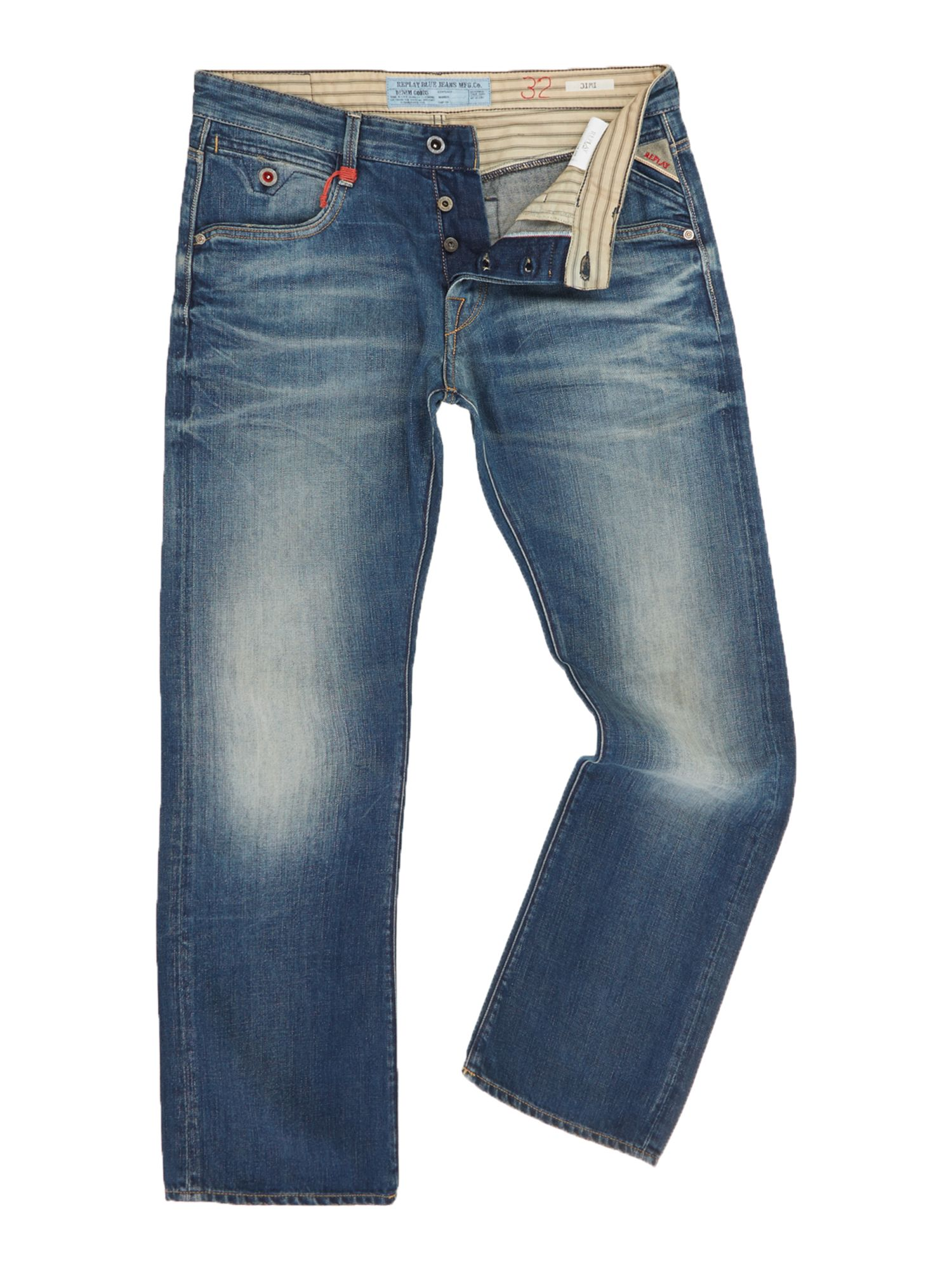 Jimi regular bootcut fit denim jeans