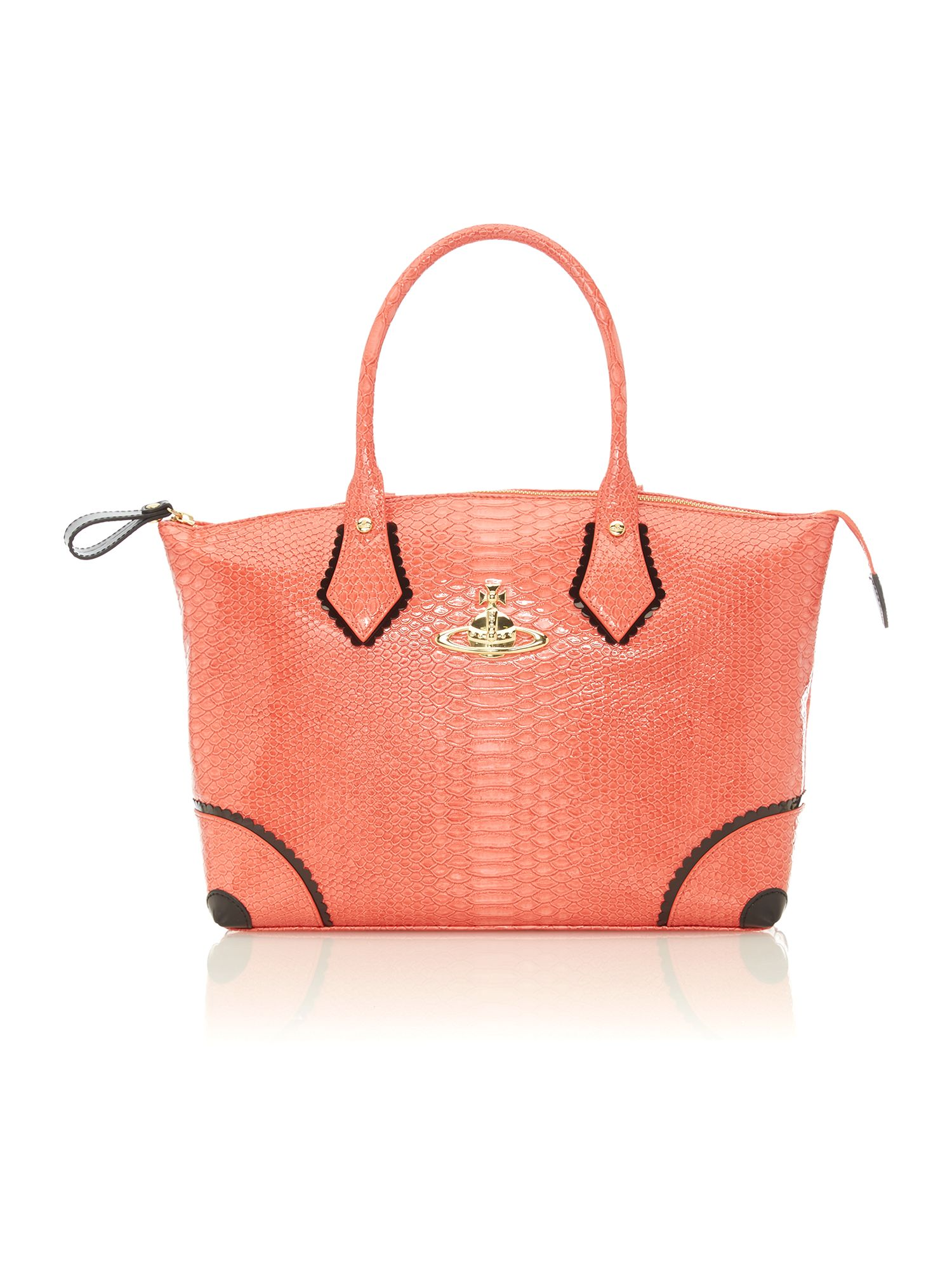 Frilly Snake large pink tote bag