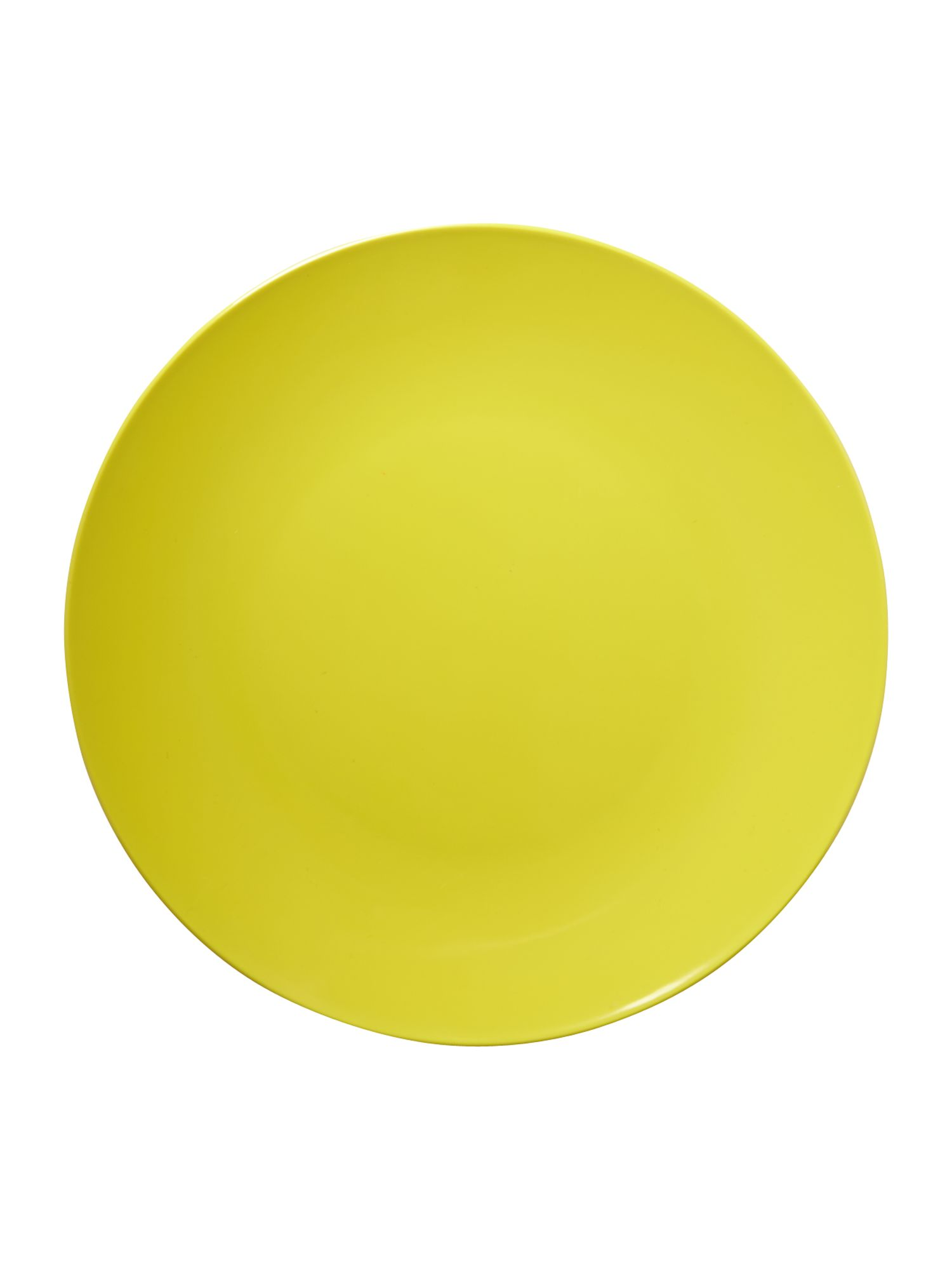 Lime melamine dinner plate