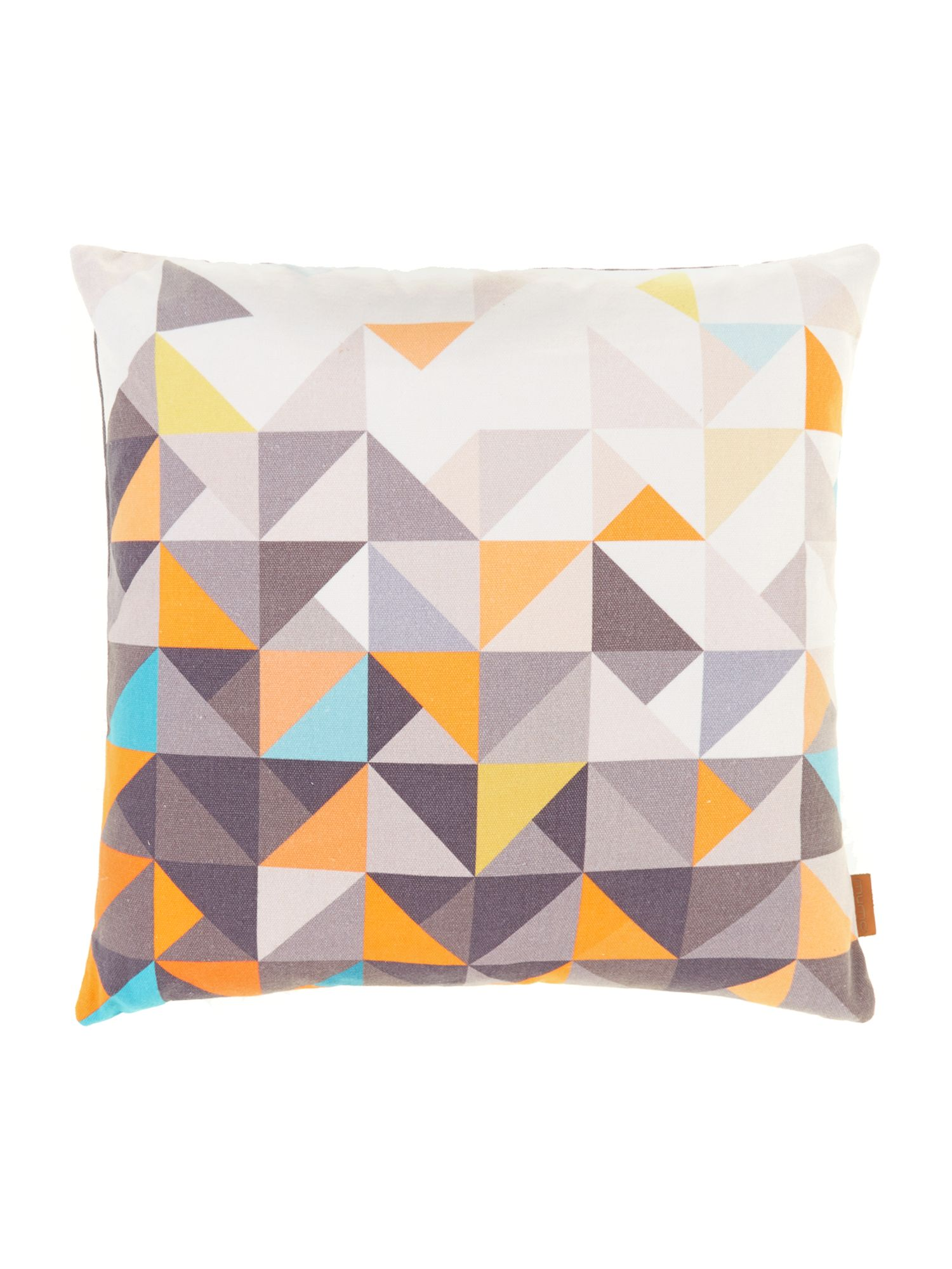 Paulista multi geometric, velvet backed cushion