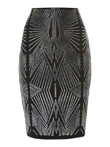 Kardashian caviar bead pencil skirt