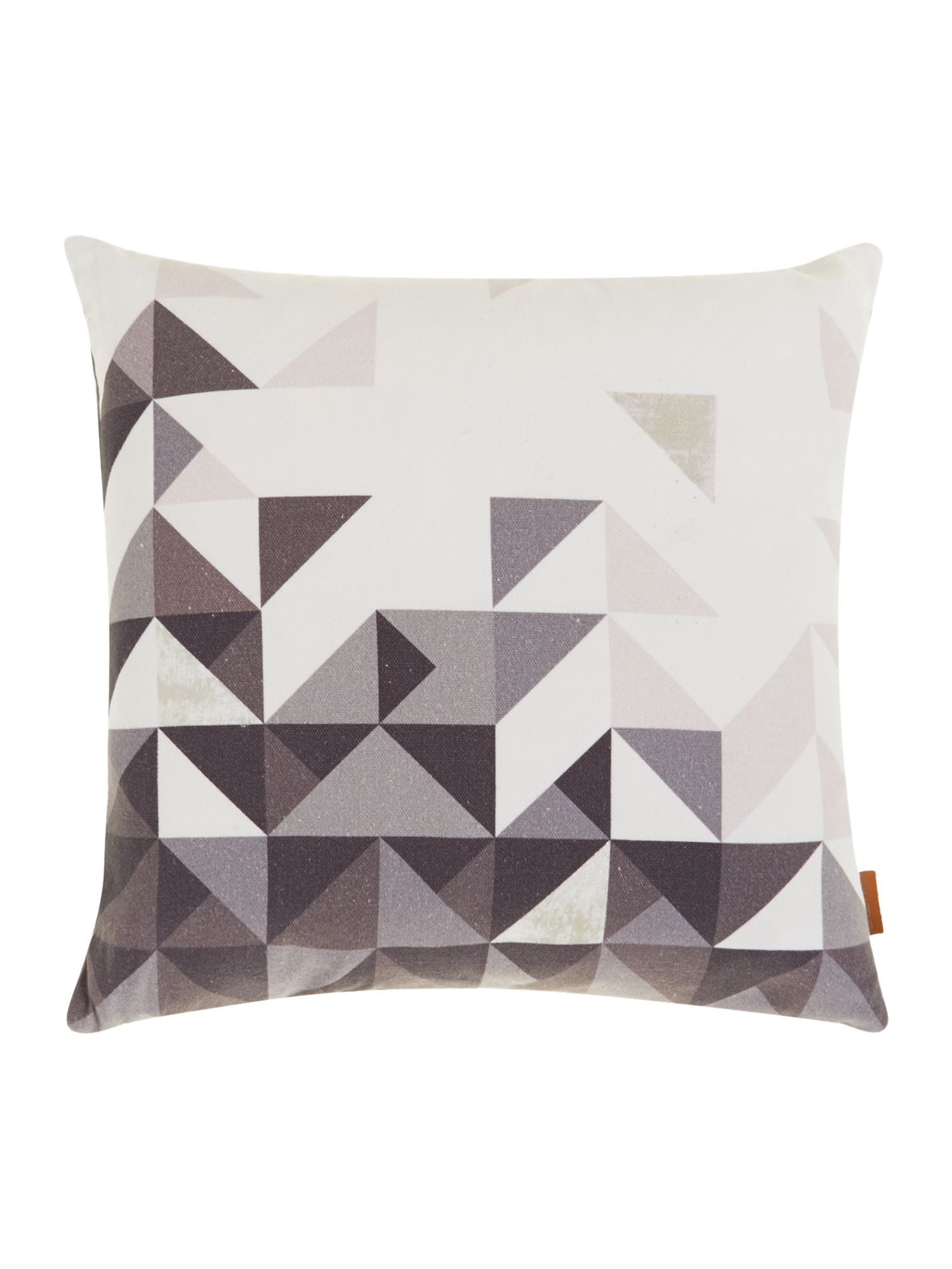 Paulista grey geometric, velvet backed cushion