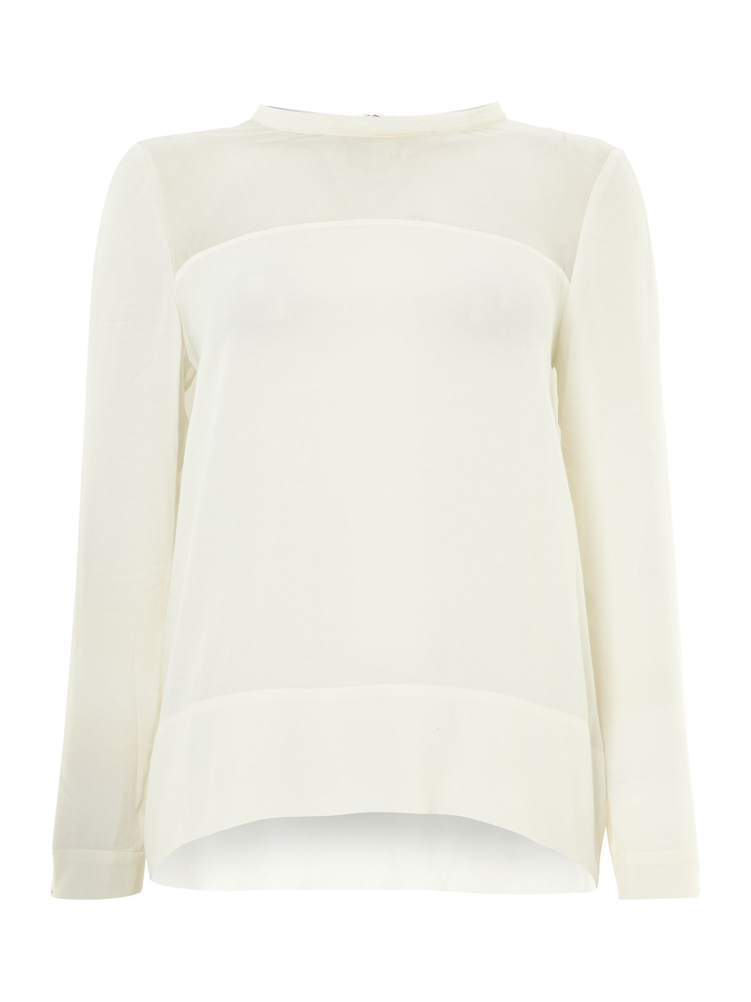 Long sleeve round neck arm detail top