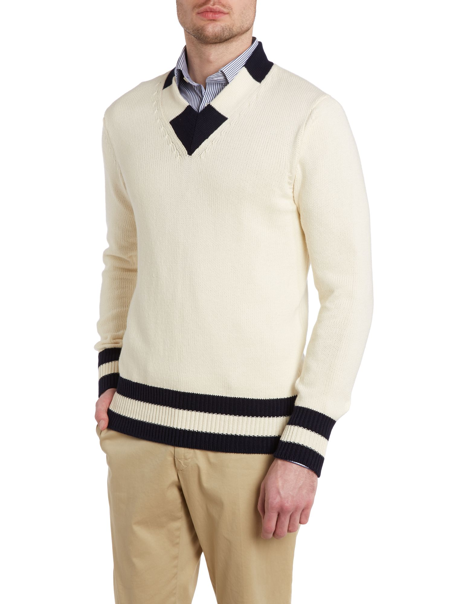 Chunky cricket jumper