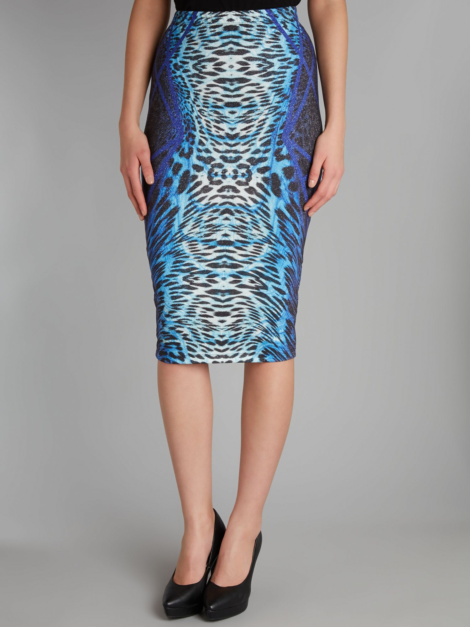 Kardashian animal print pencil skirt