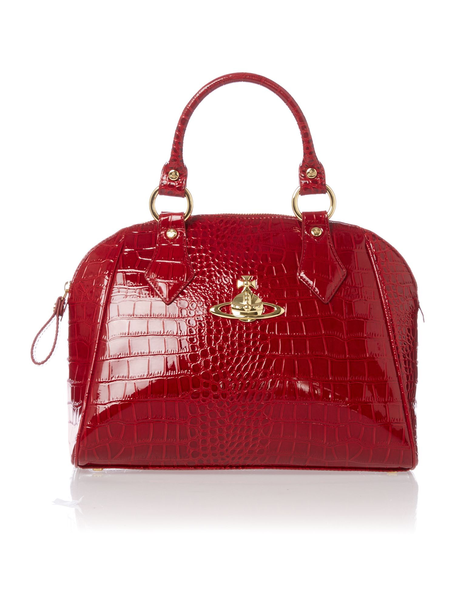 New Chancery red medium dome bag