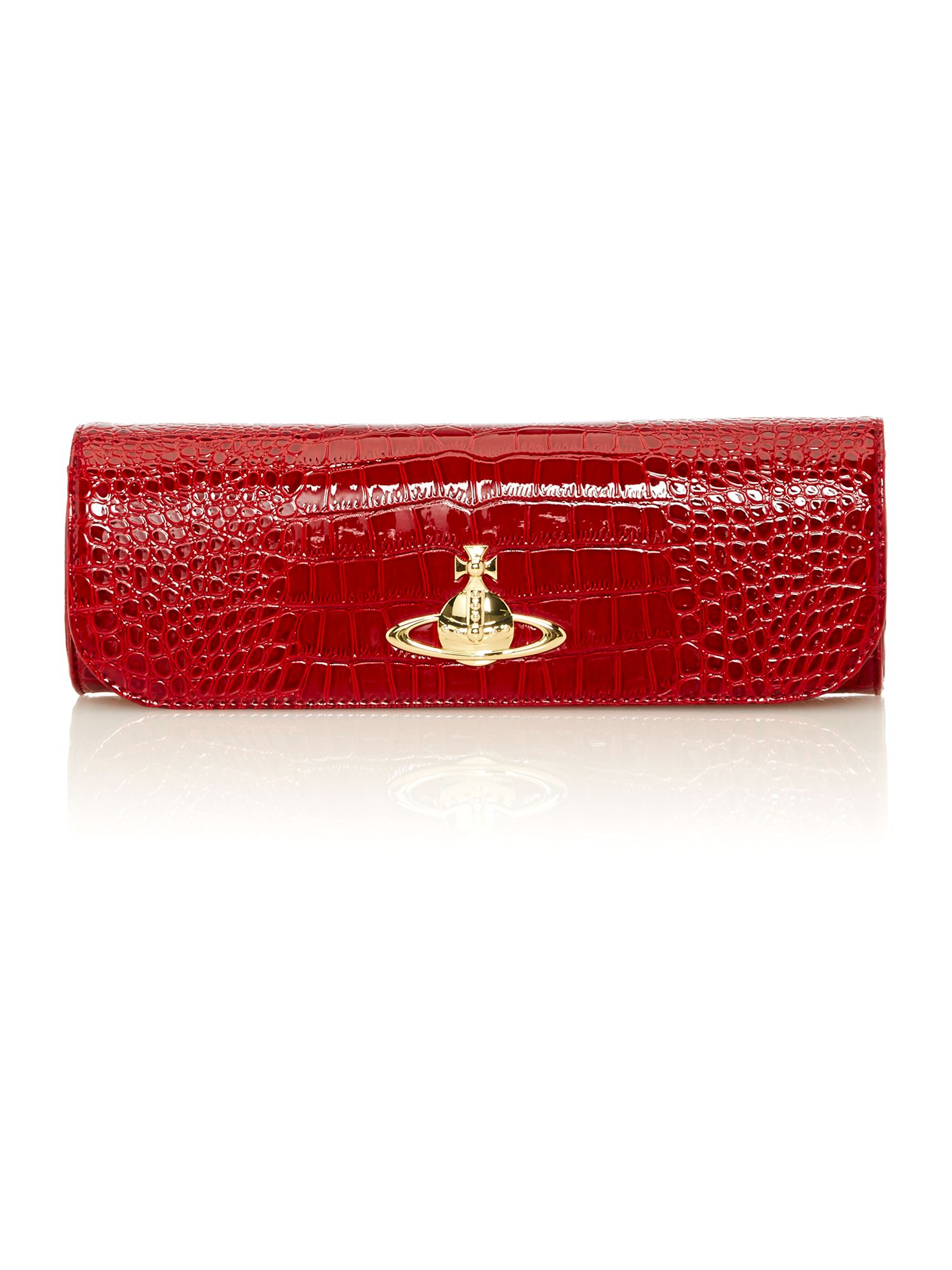 New Chancery red chain clutch bag