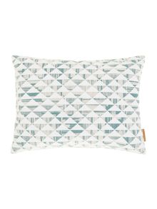 Quadrant triangle overlay cushion duck egg