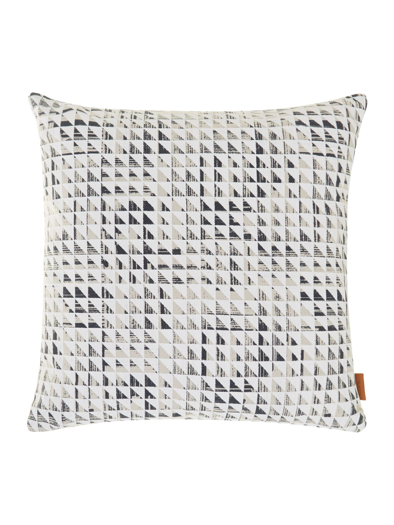 Quadrant triangle overlay cushion midnight