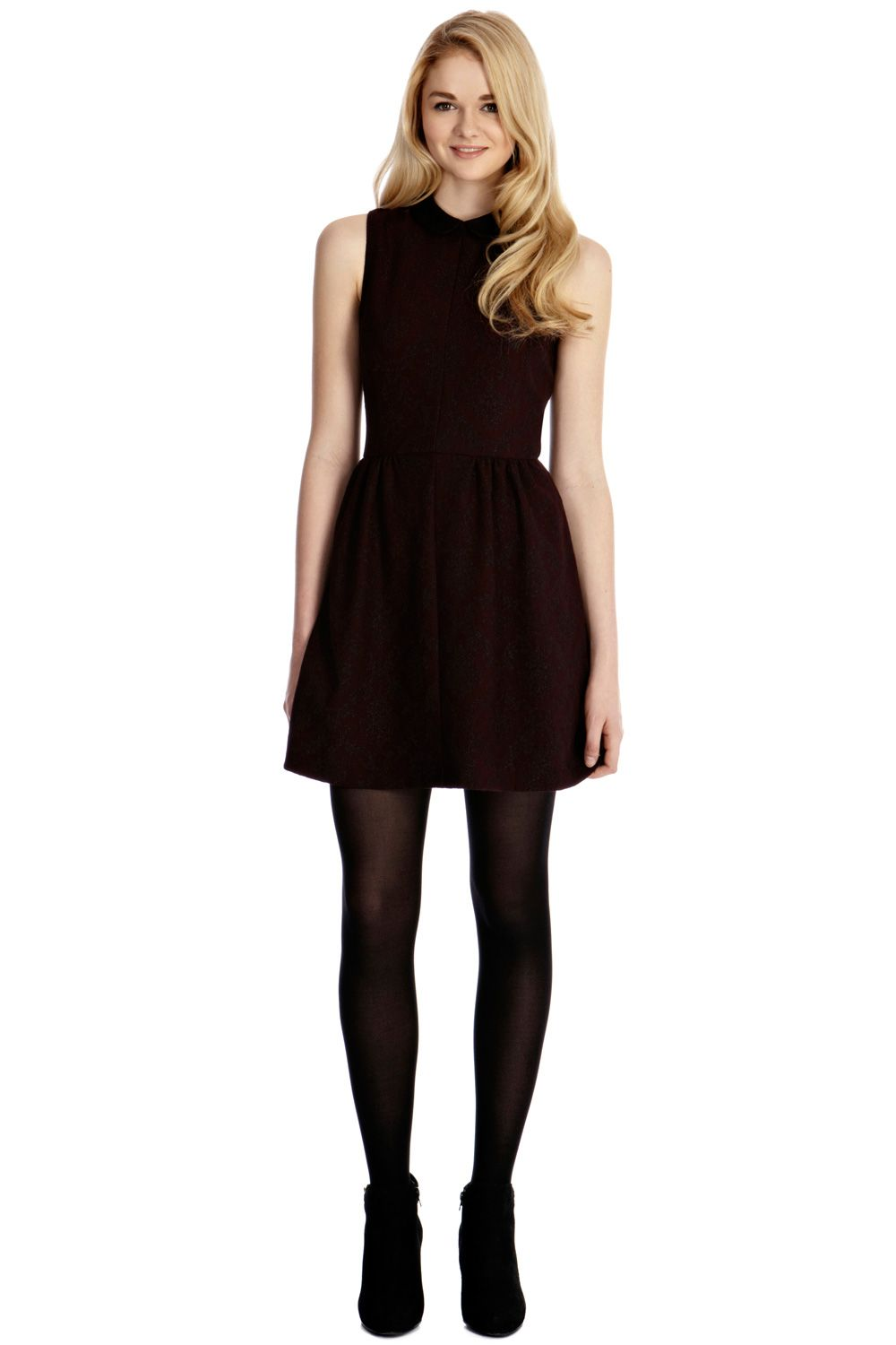 Sparkle jacquard collar dress