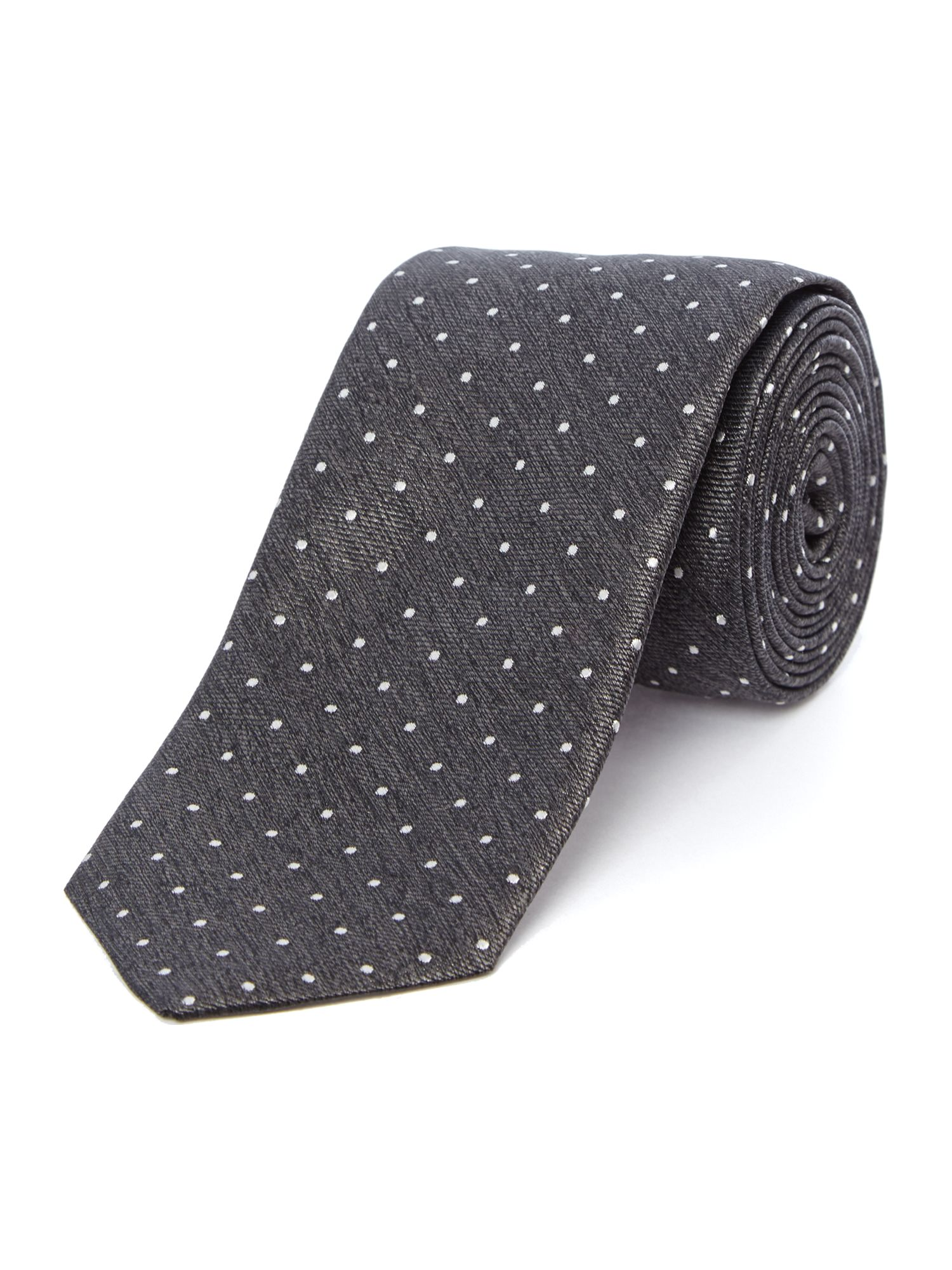 Small dot extra slim tie