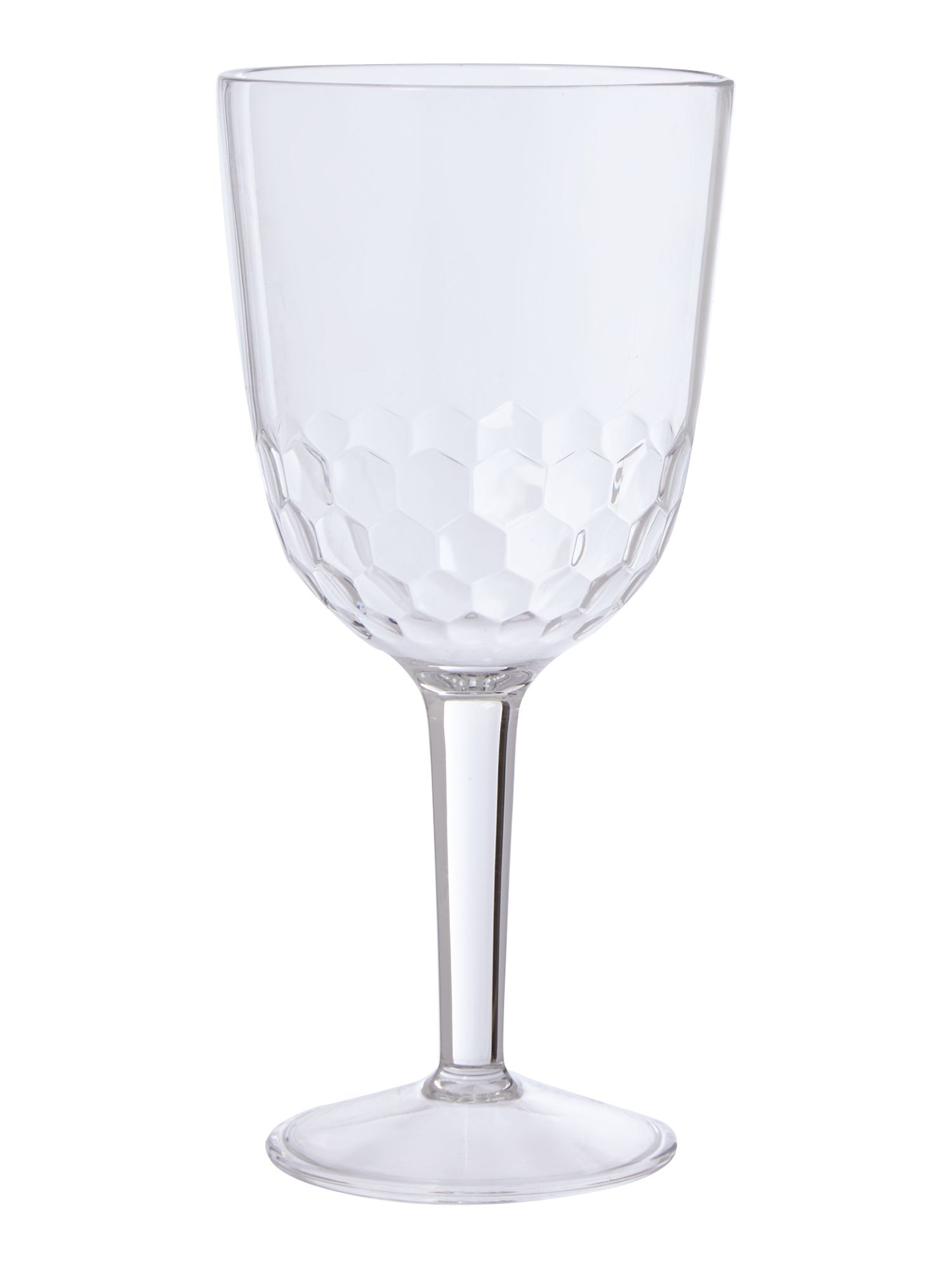 Honeycomb acrylic wine glass