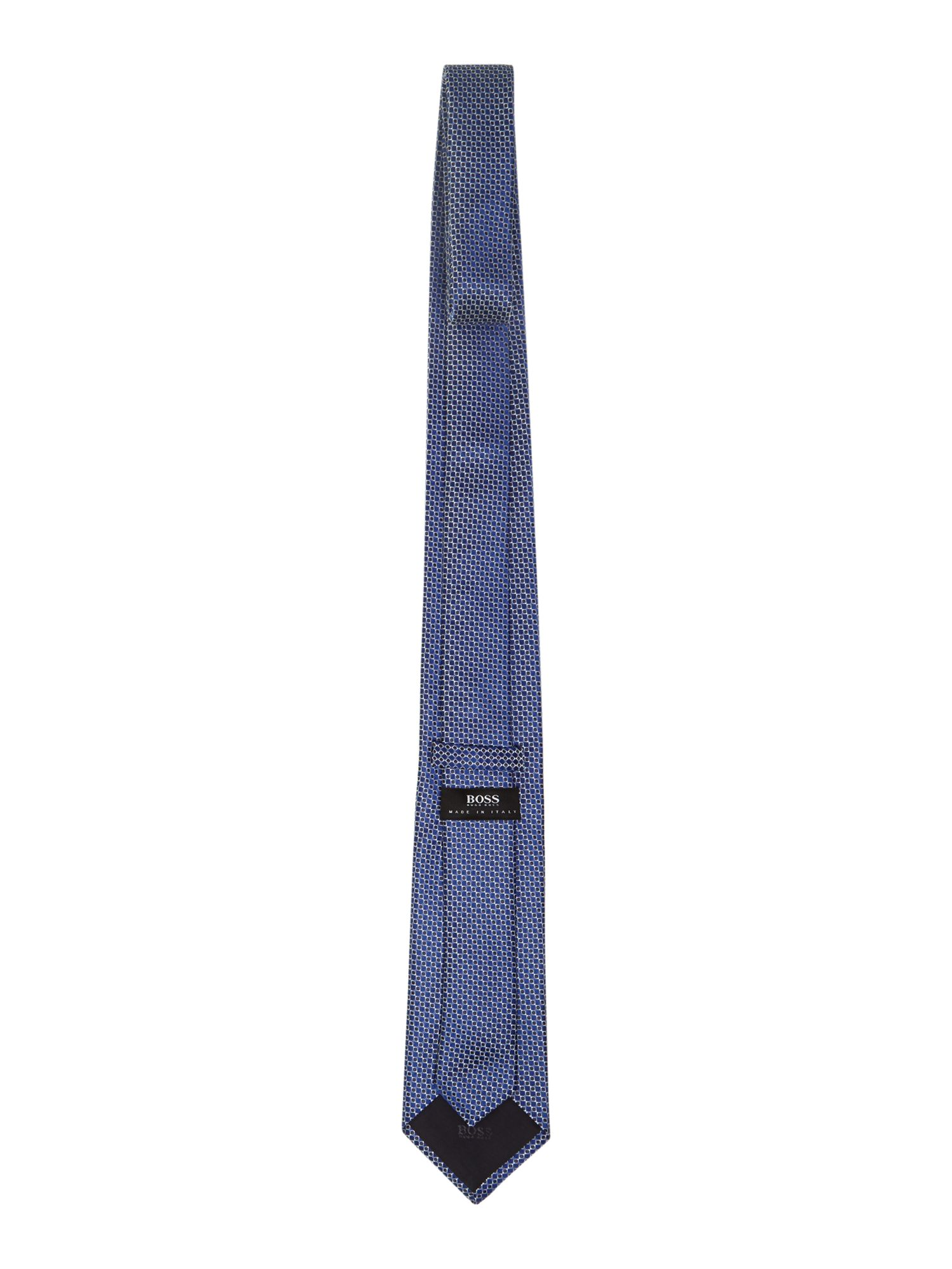 Square geometric slim tie