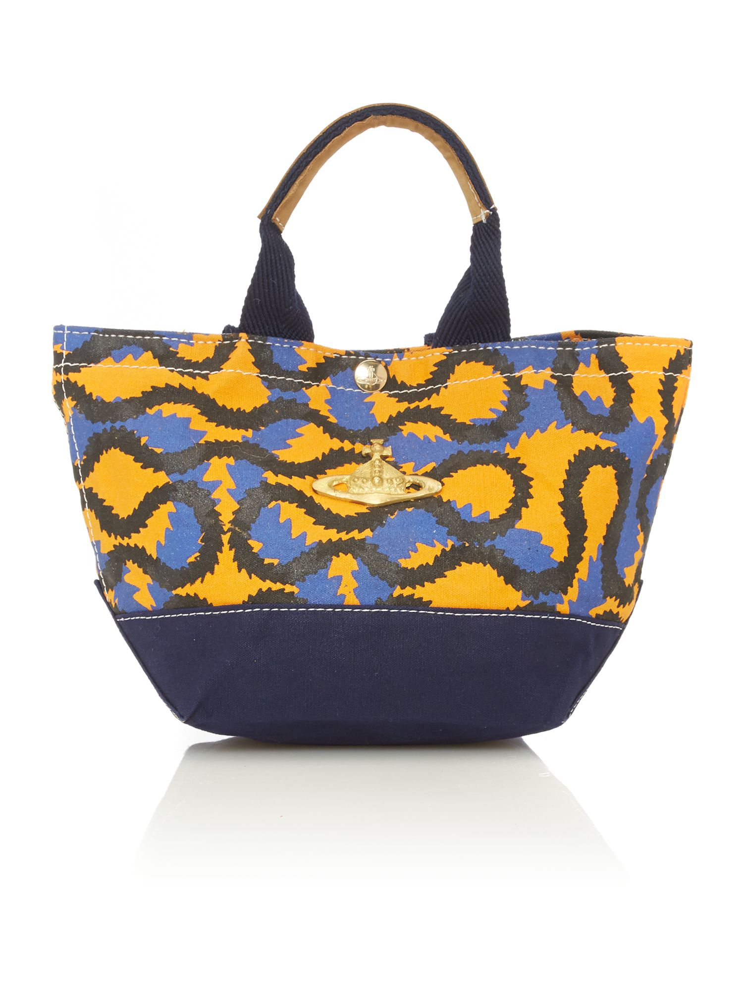 Africa multi coloured small tote bag