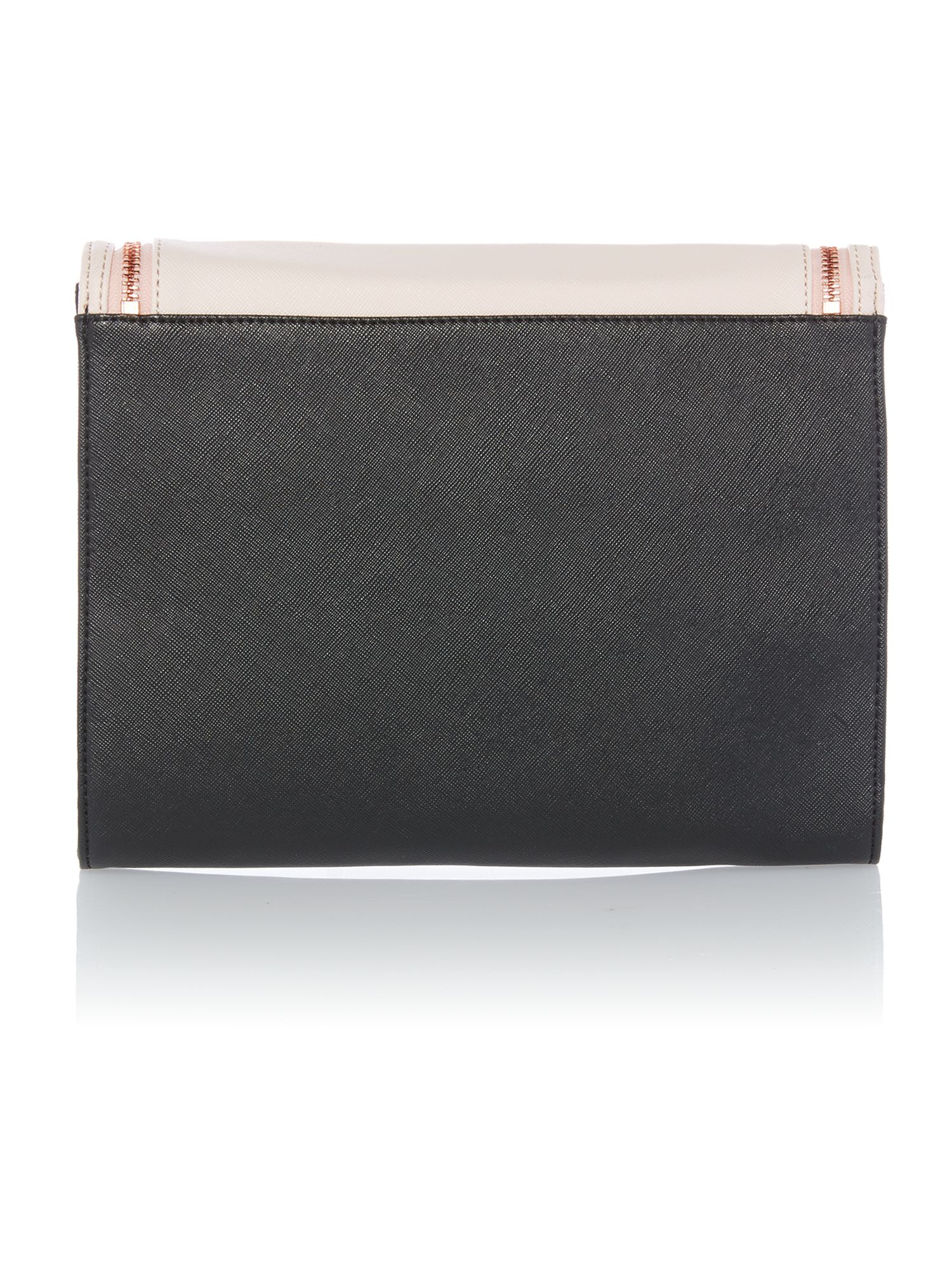Medium black and nude clutch bag