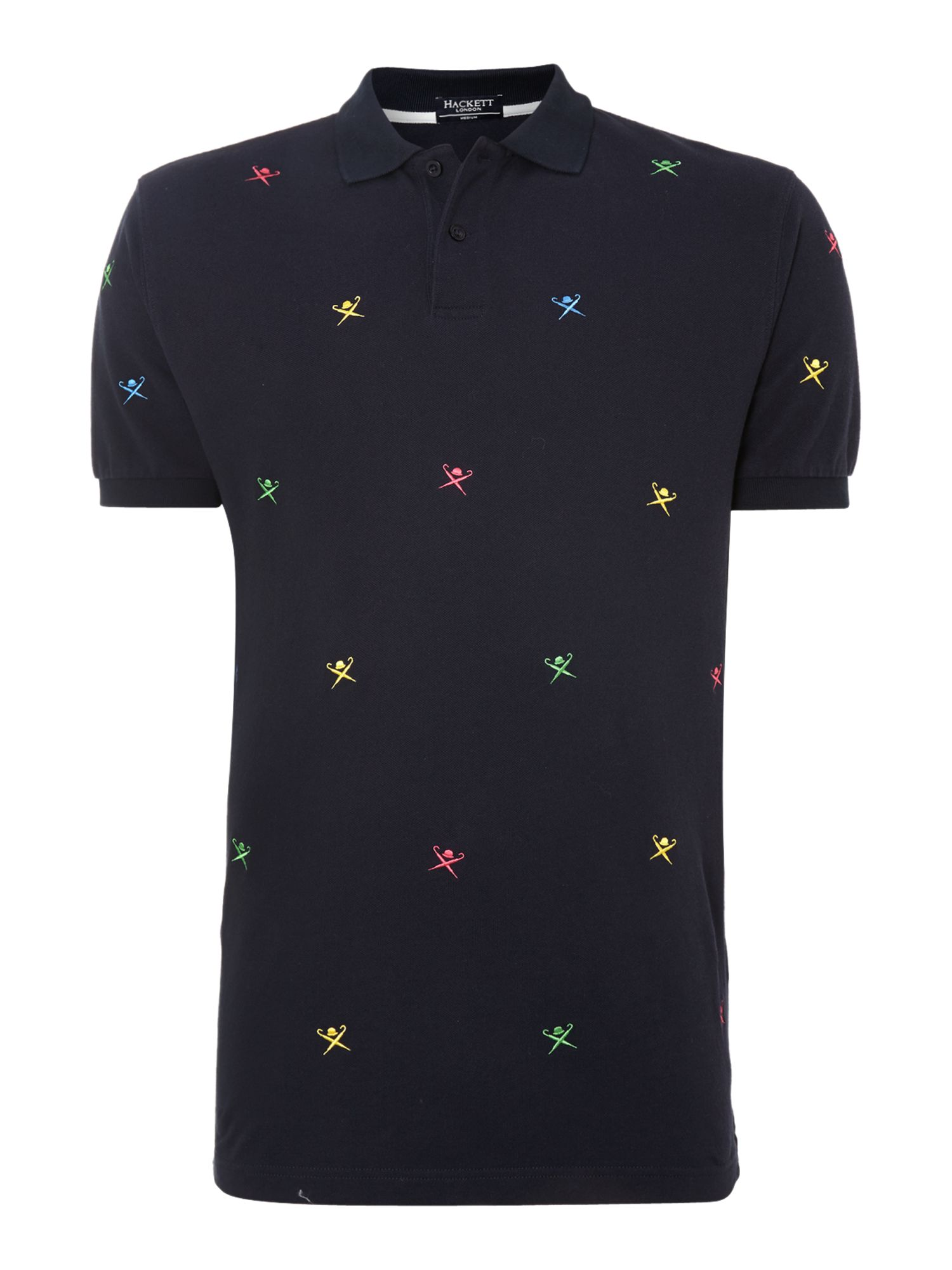 Multi logo polo shirt