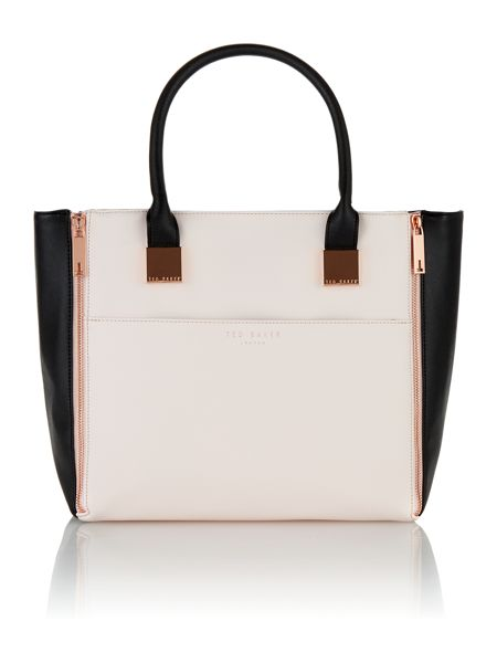 Ted Baker Large black and cream tote bag