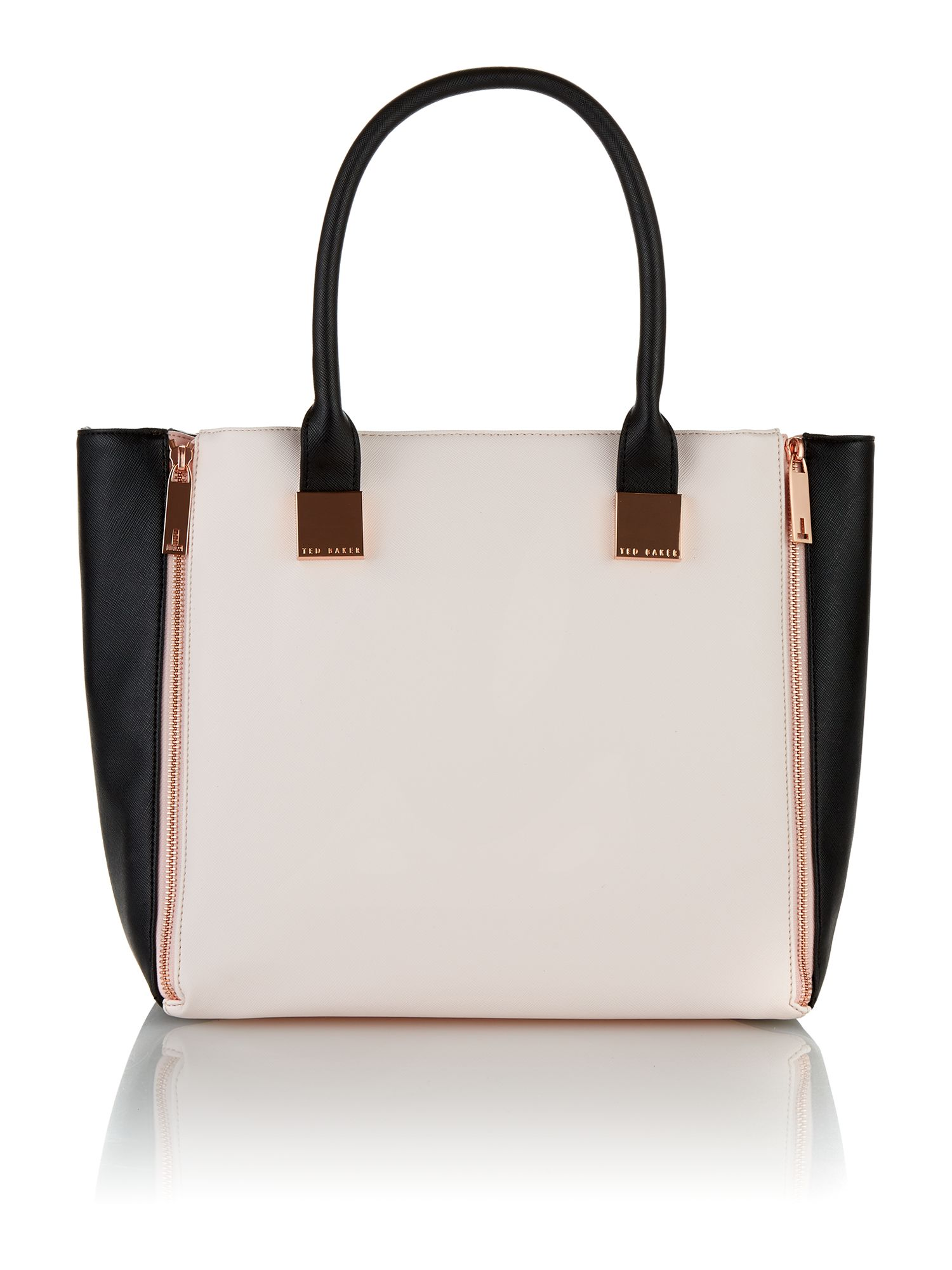 Small black and cream tote bag