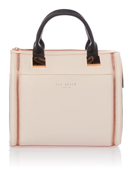 Ted Baker Small black and nude bowling bag