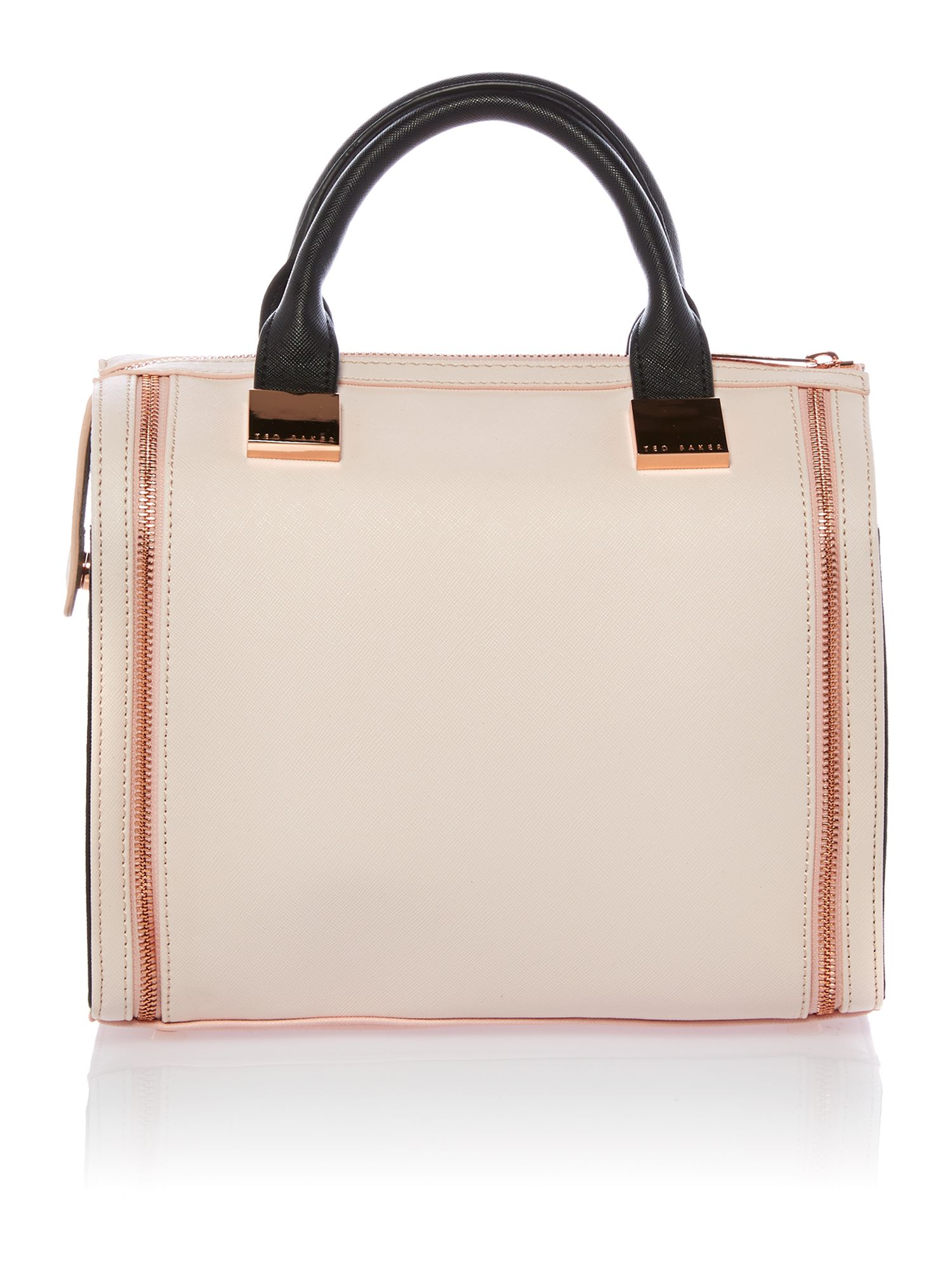 Small black and nude bowling bag