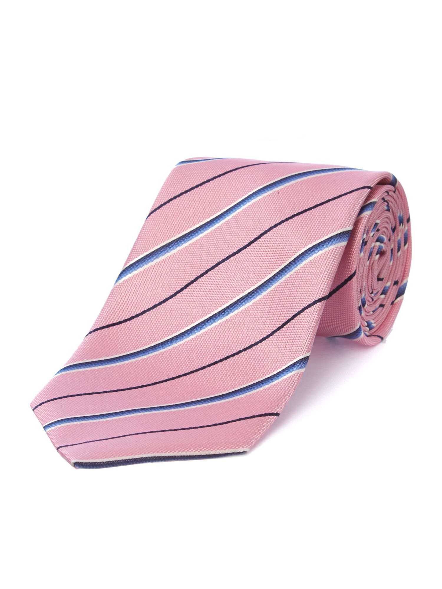 Multi wide stripe slim tie