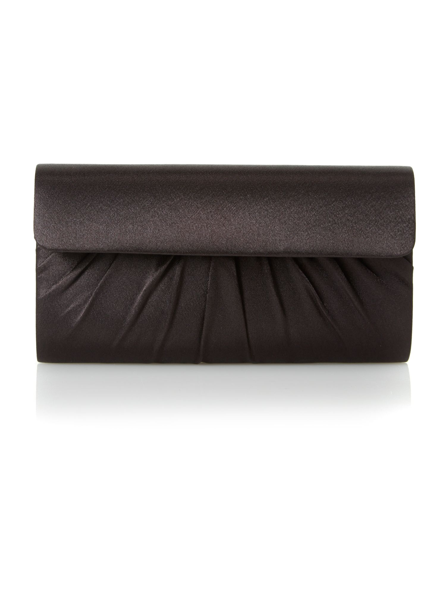 Brown satin clutch bag