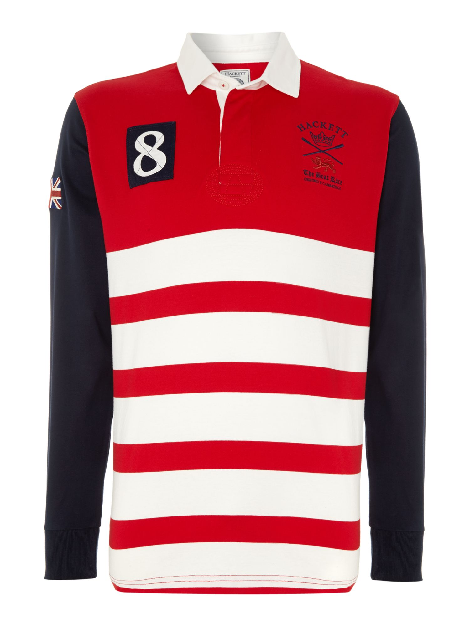 Long sleeve contrast arm rugby shirt
