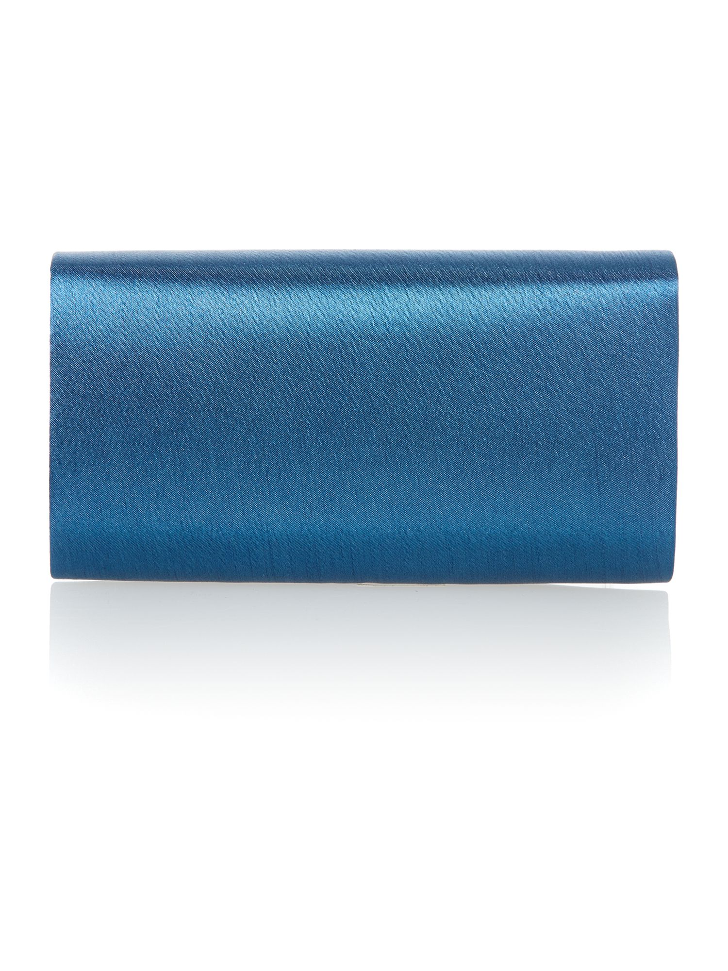 Green satin clutch bag