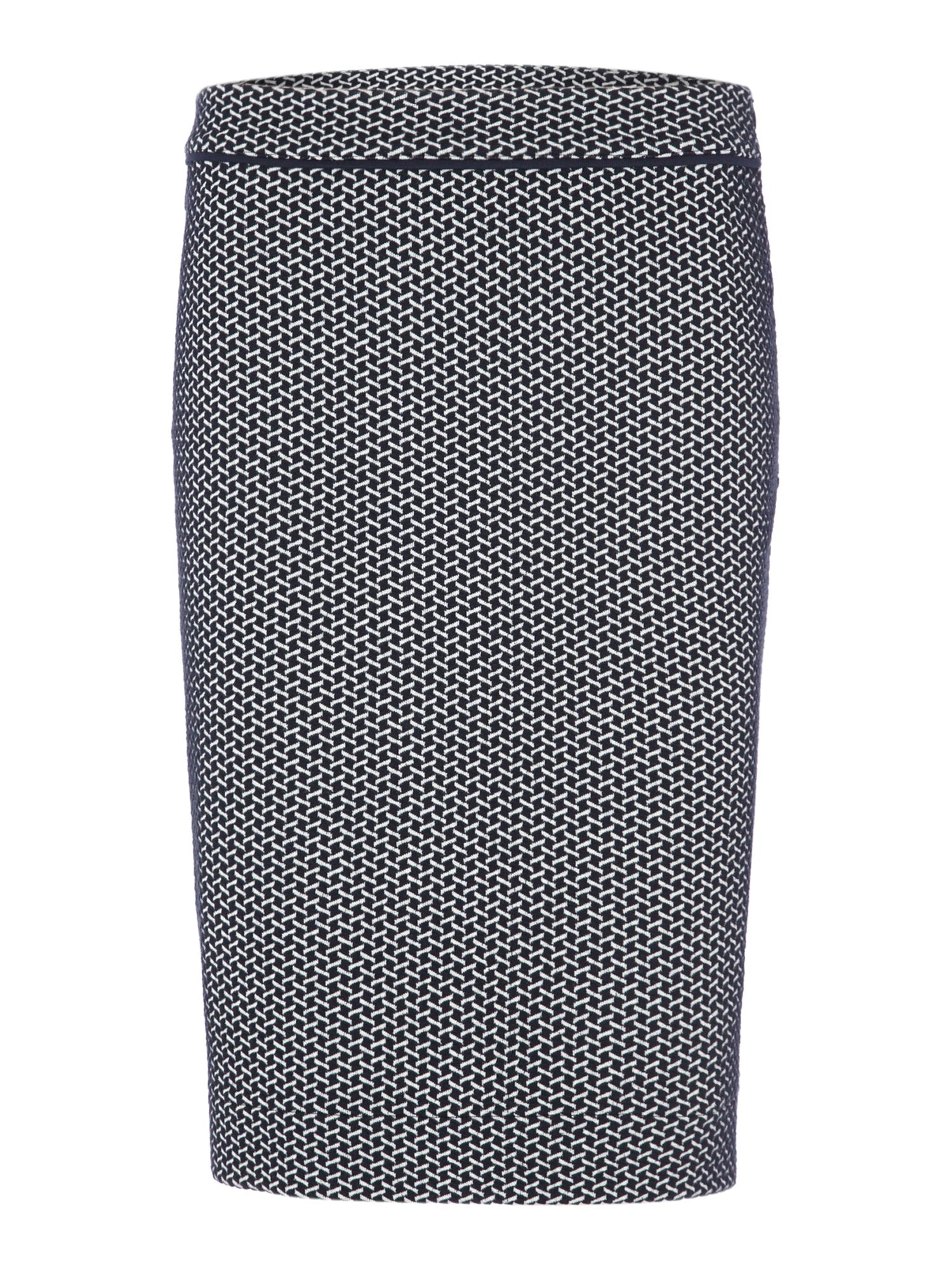Skirt with jacquard print