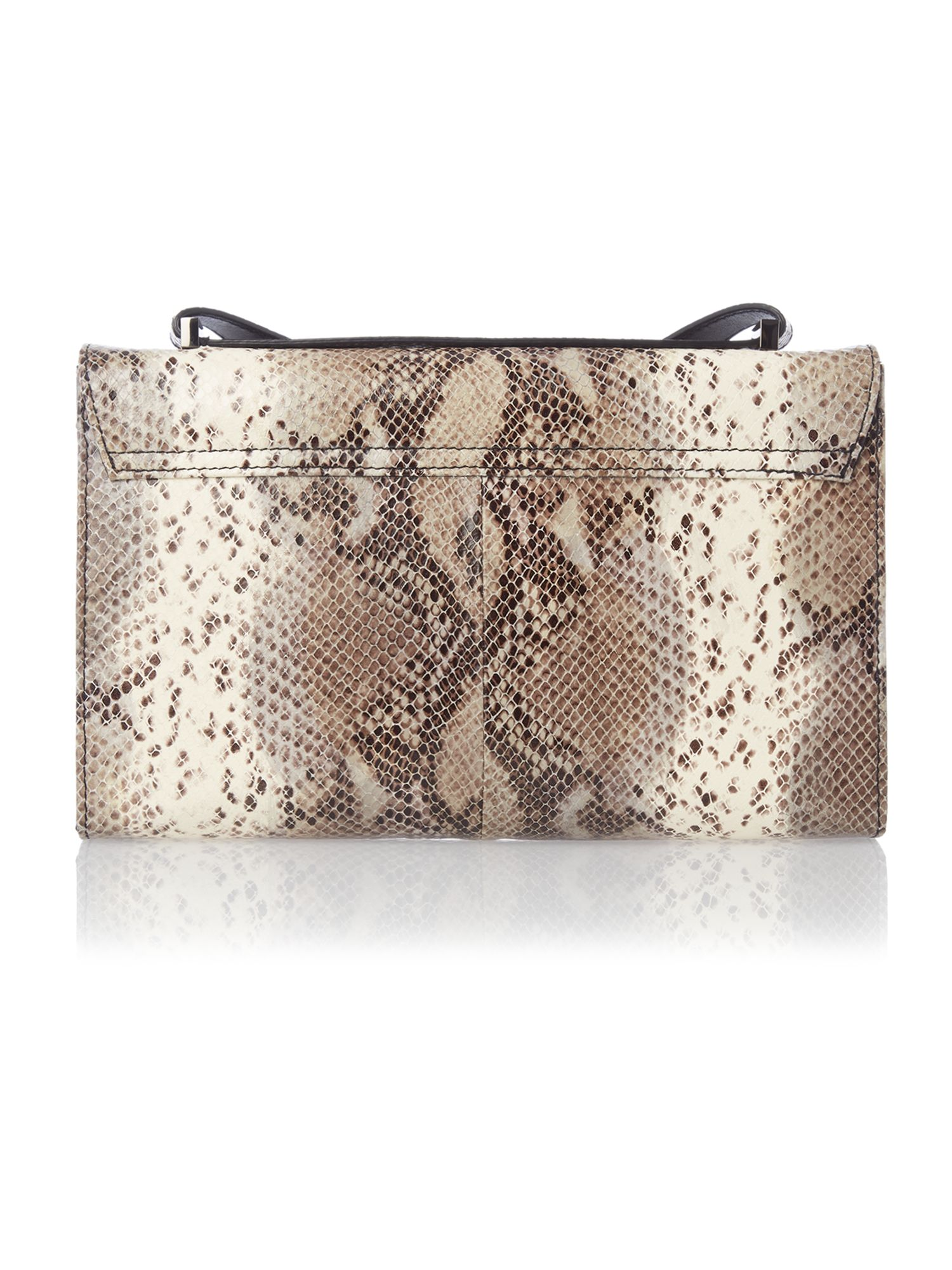 Medoum black snakeskin cross body bag