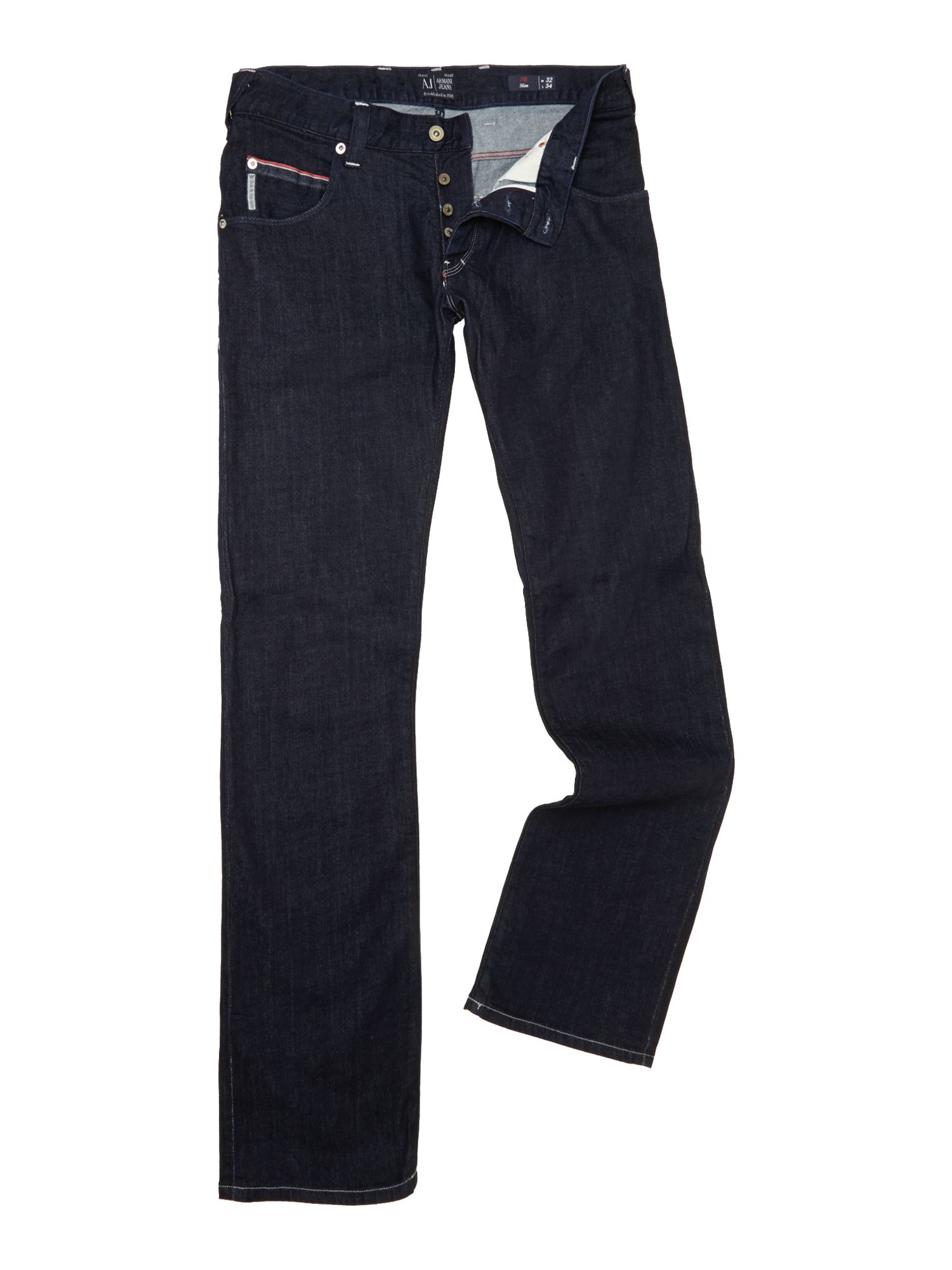 J08 armani jeans regular slim fit pocket detail