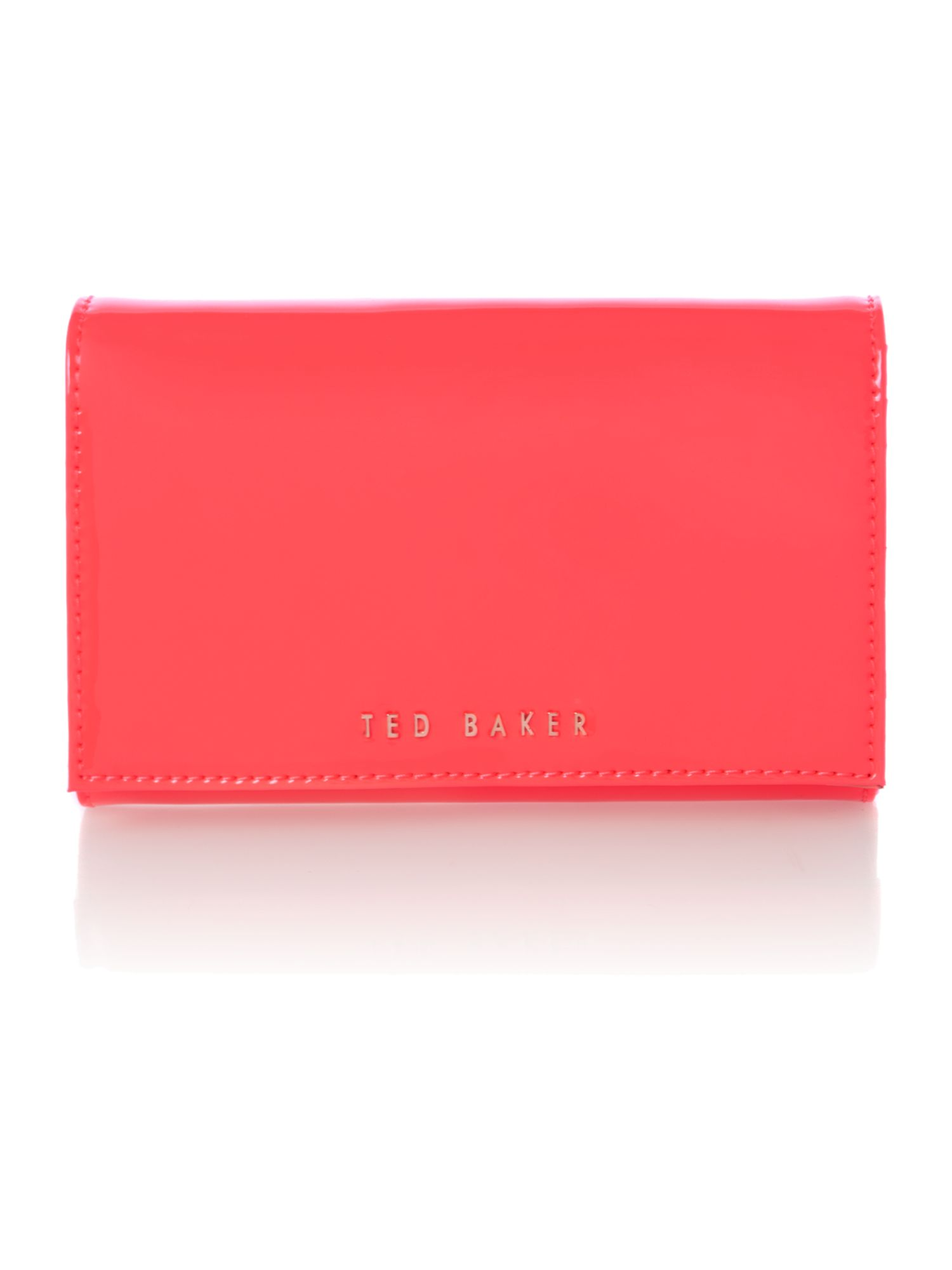 Pink mini patent cross body bag