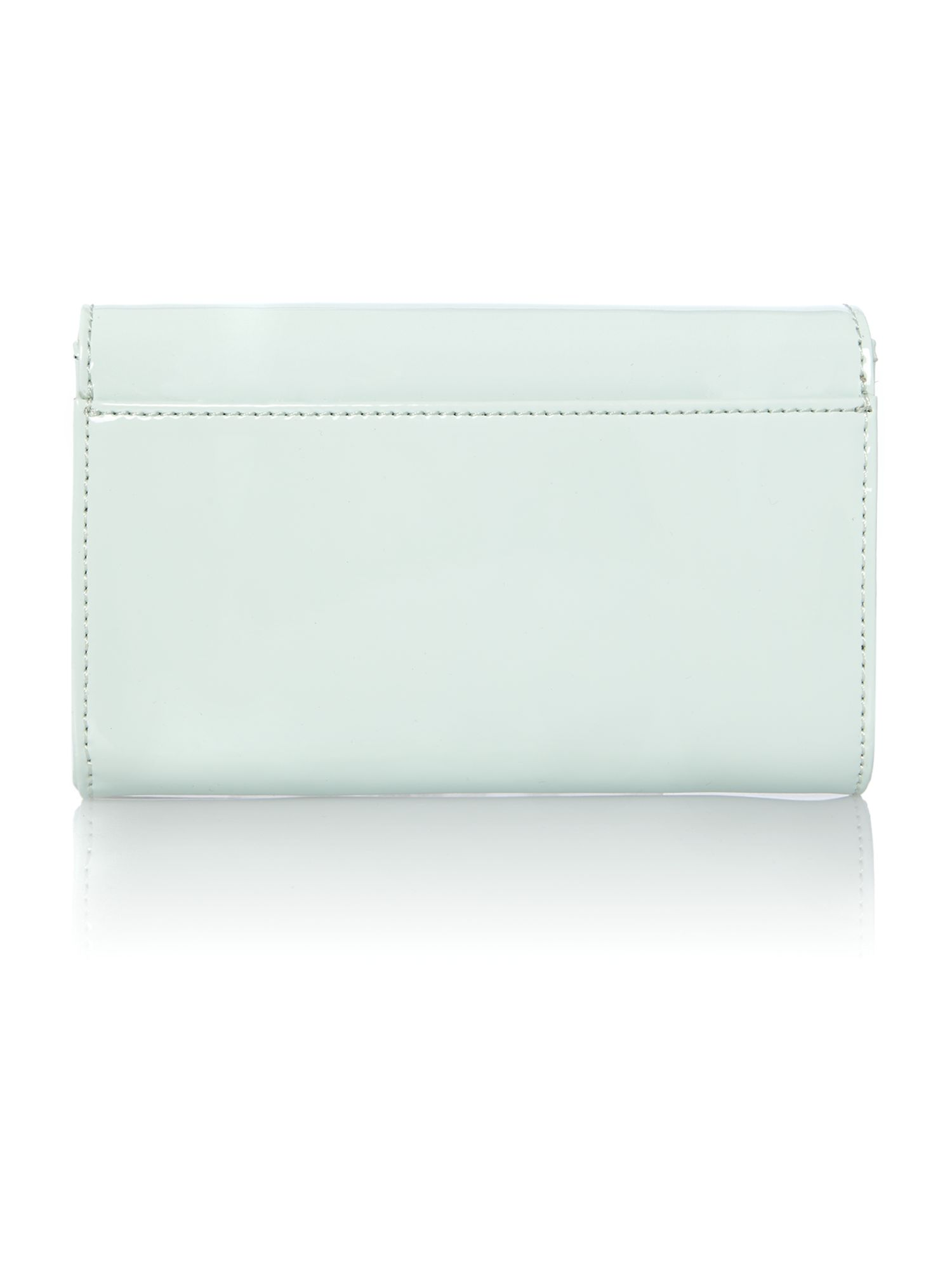 Green mini patent cross body bag