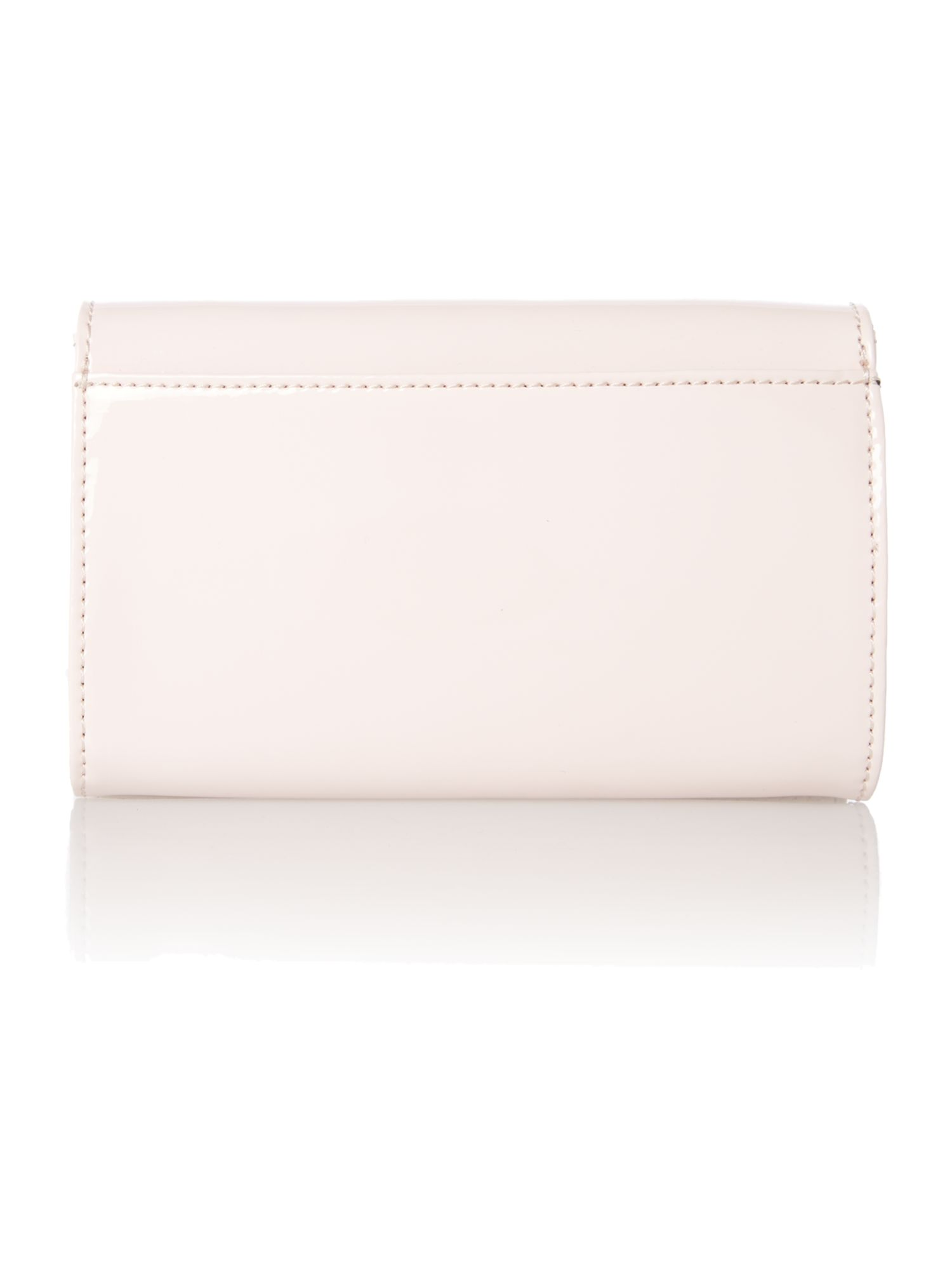 Nude mini patent cross body bag