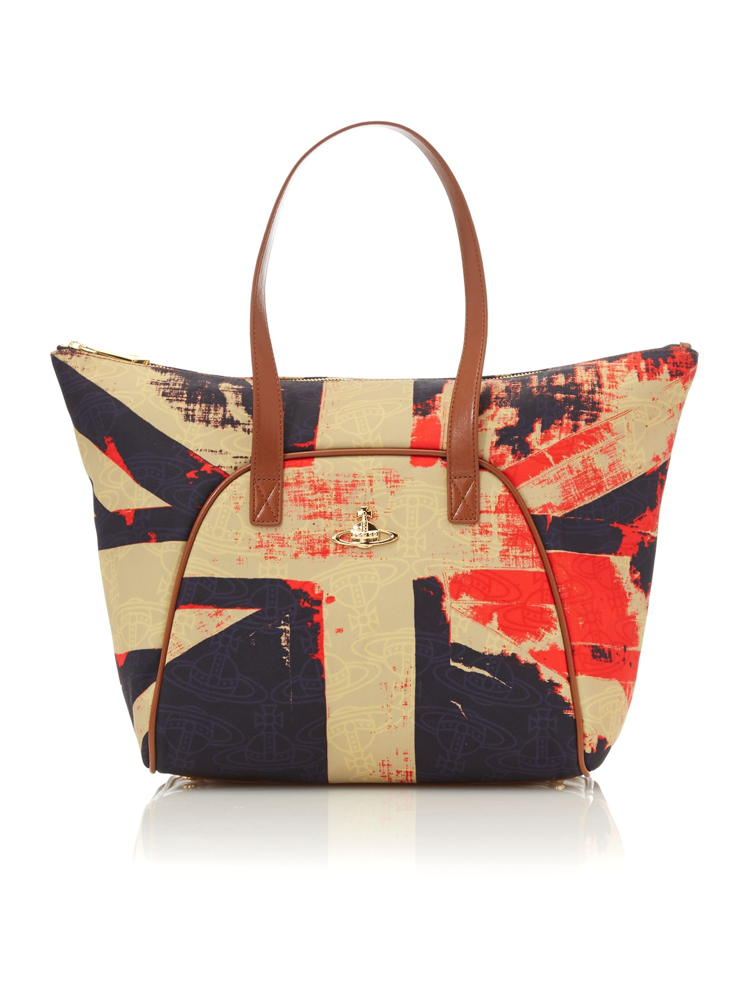 Print multi coloured tote bag