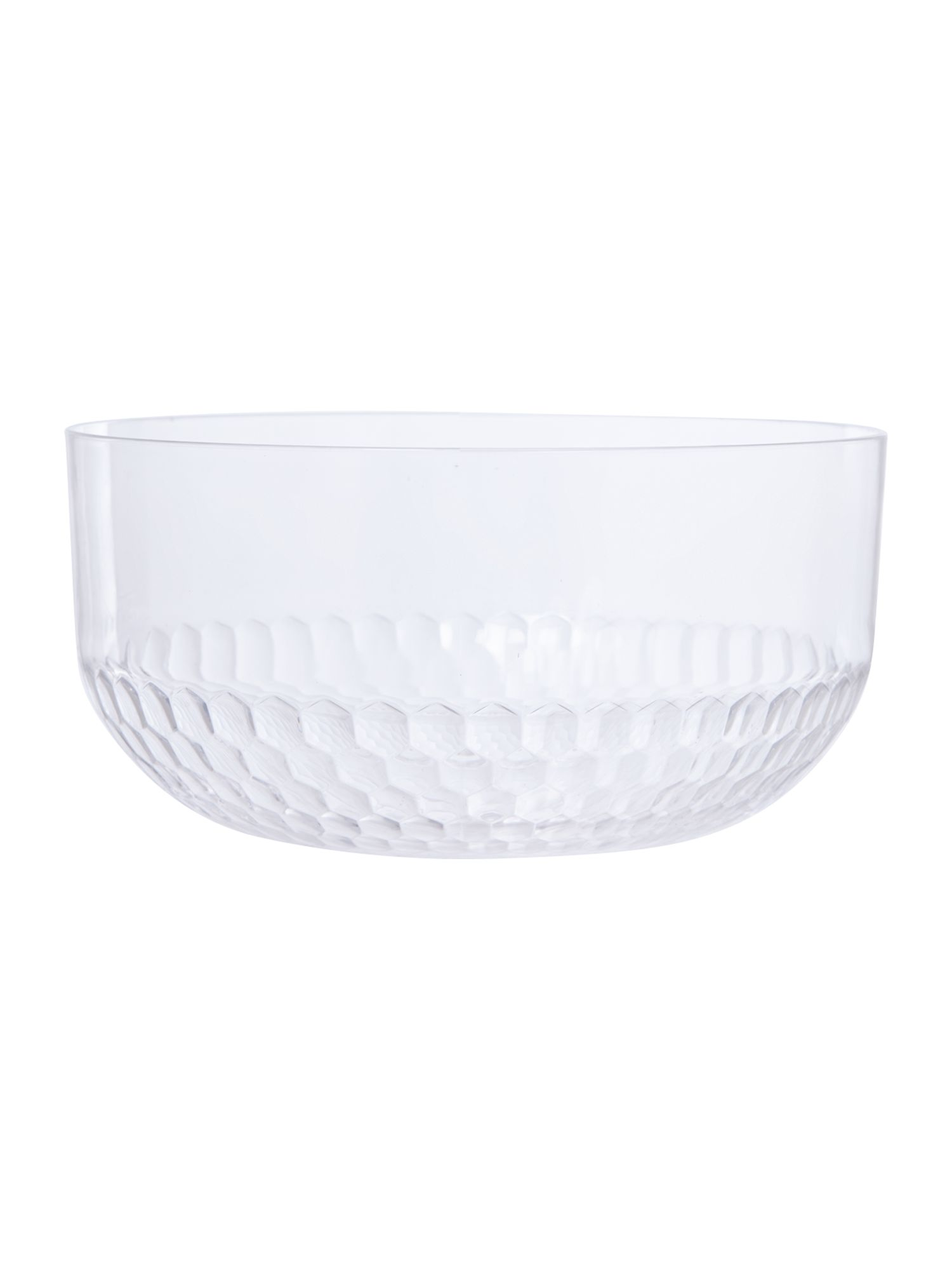Honeycomb acrylic salad bowl