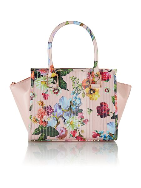 Ted Baker Multi coloured floral quilt tote bag