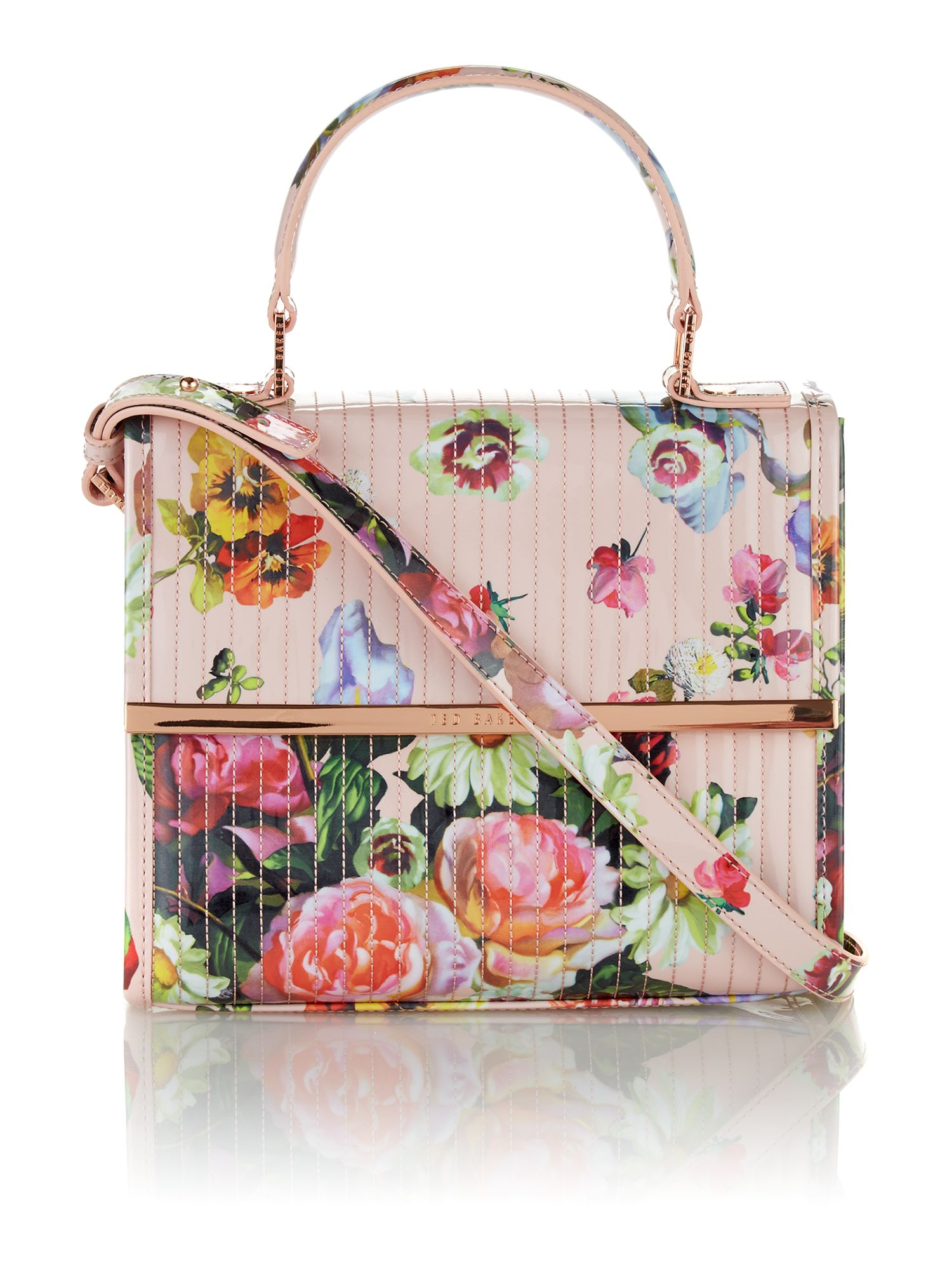 Multi coloured floral cross body bag