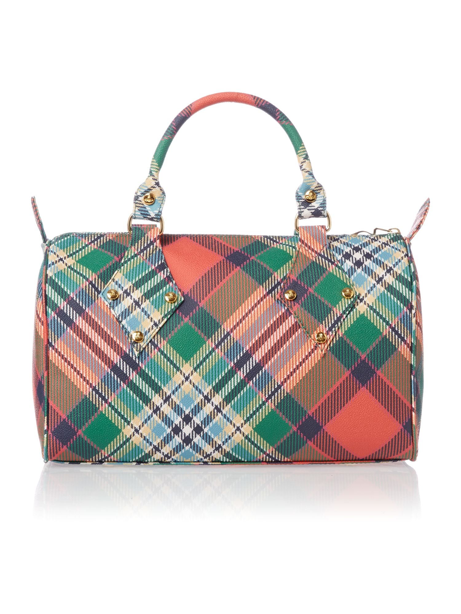 Deby multi coloured check dome bag