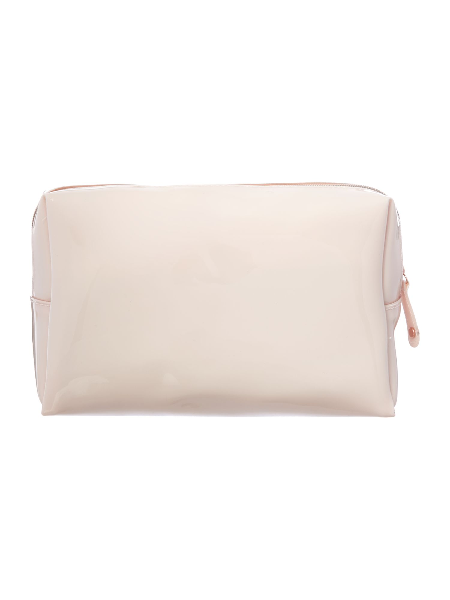 Large nude cosmetics bag