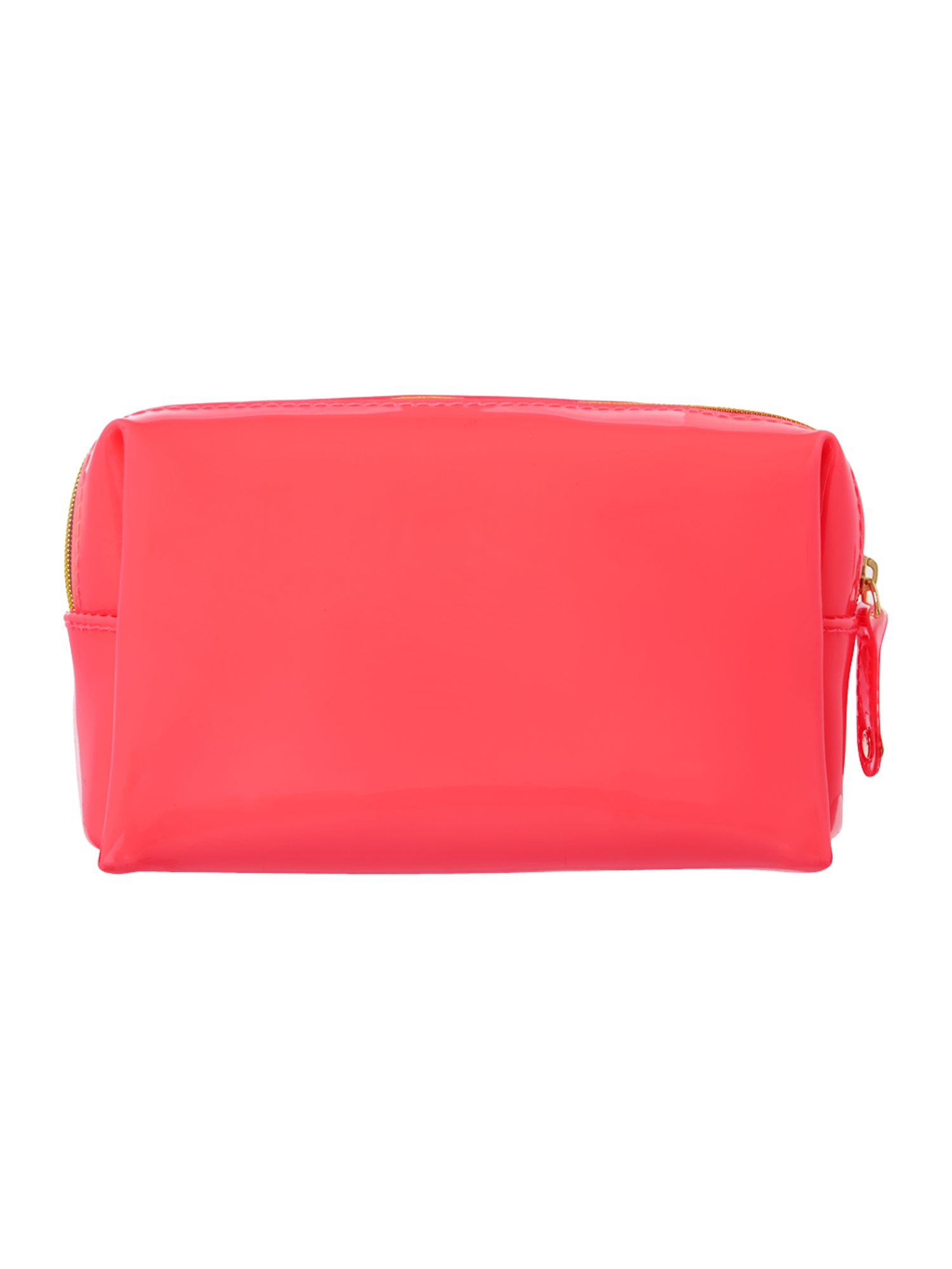 Small pink cosmetics bag