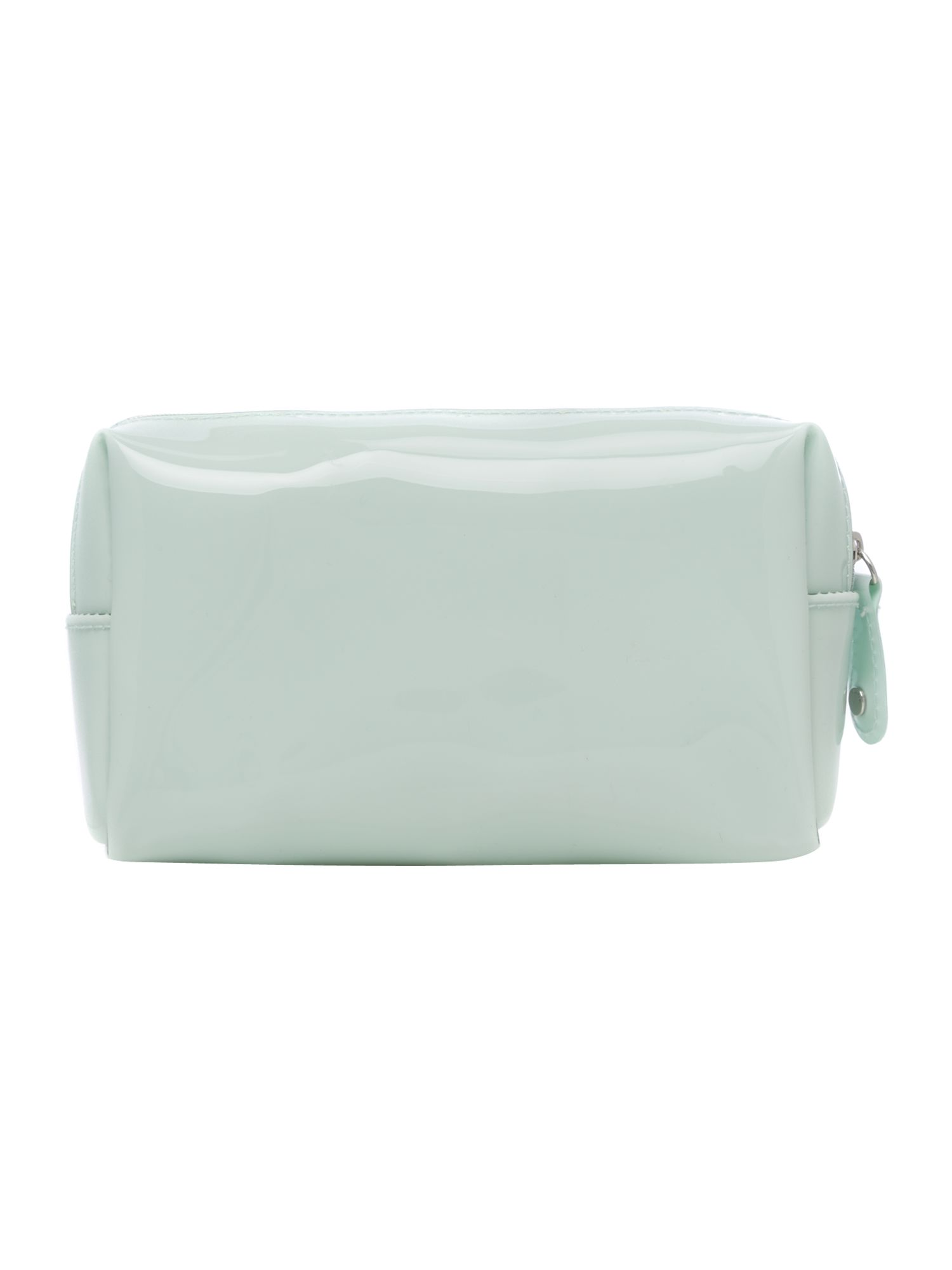 Small green cosmetics bag