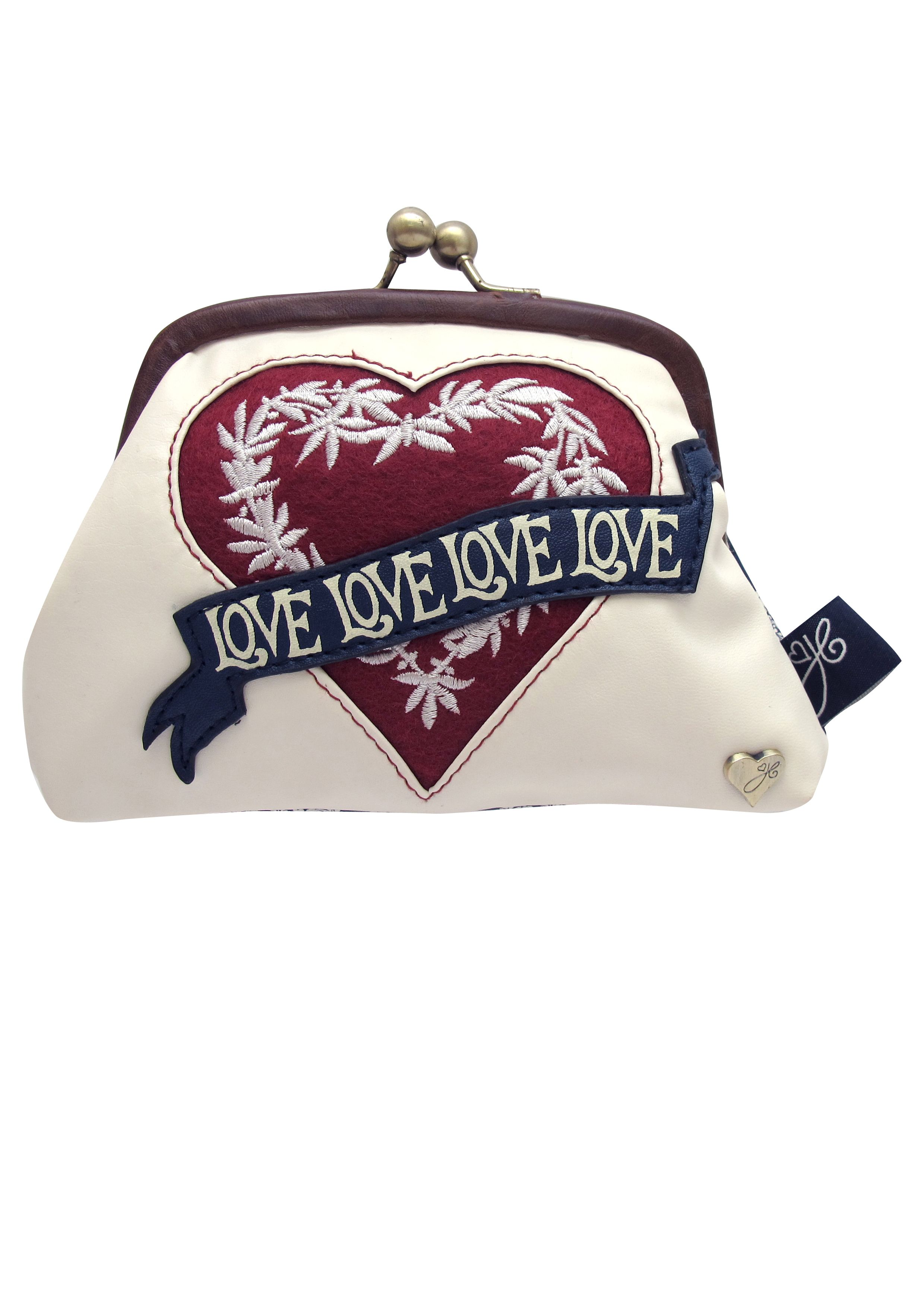 multi-coloured love frame purse