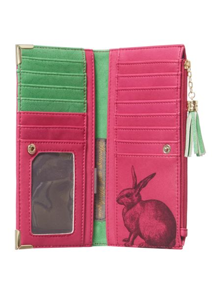 Disaster Pink large flap over purse