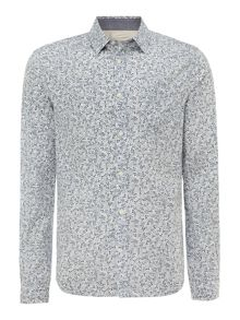 luna floral print long sleeved shirt