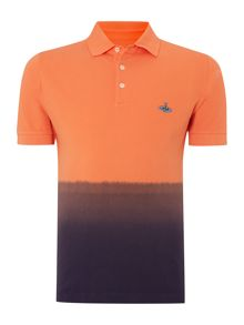 Dip-dyed polo shirt