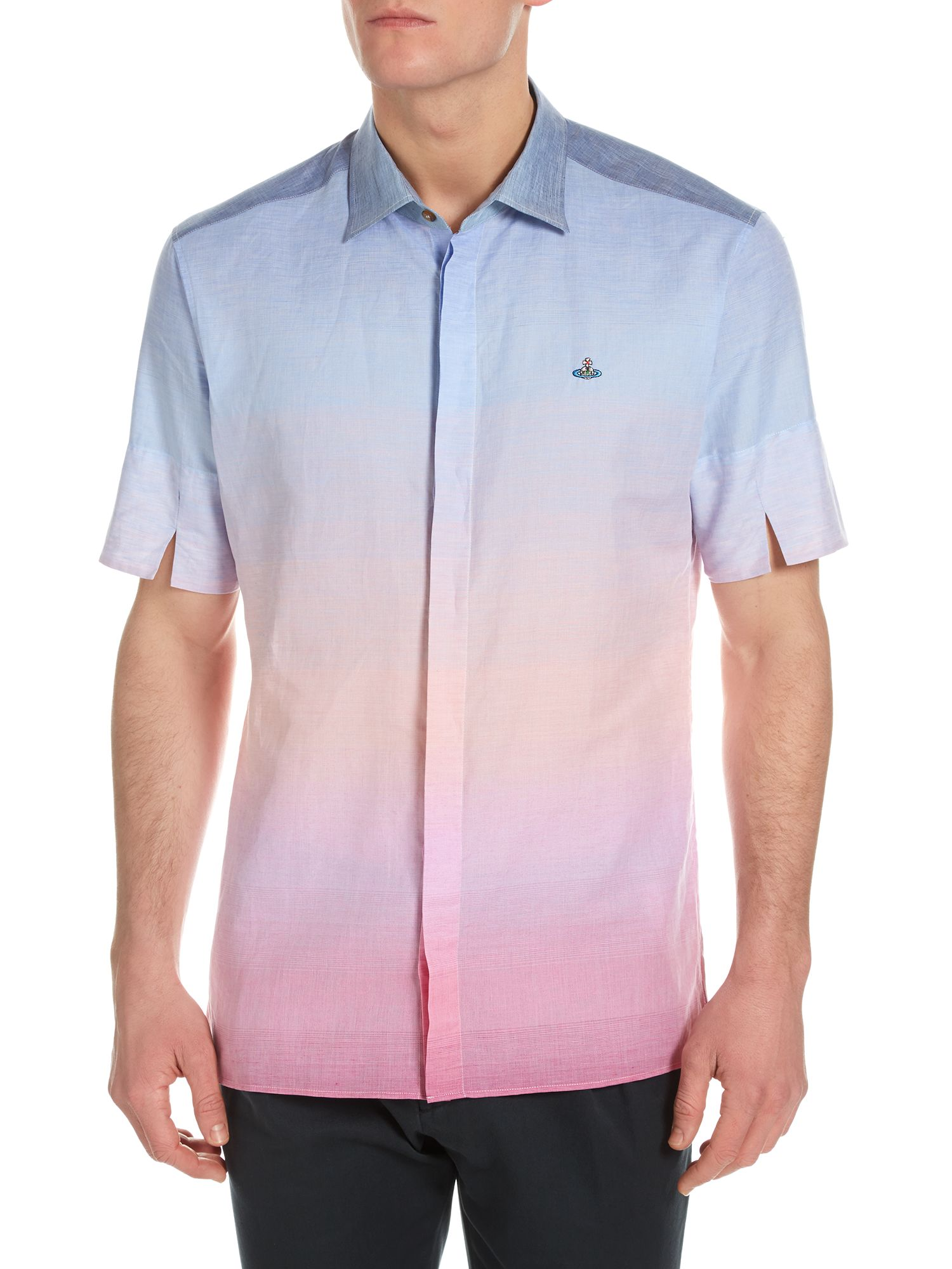 Sunset dip dye short sleeve shirt